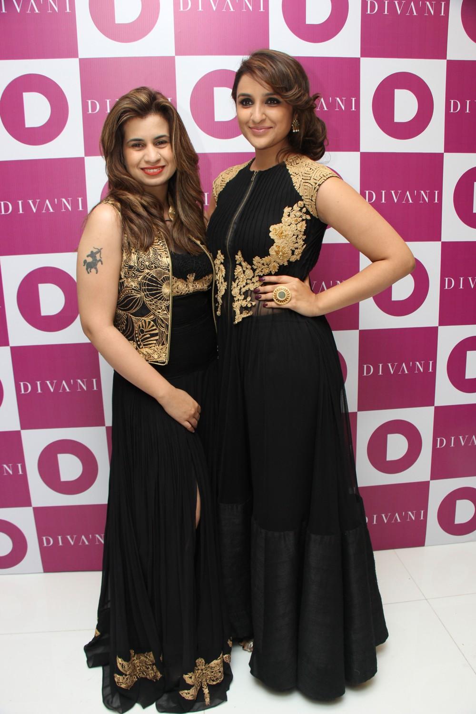 Sanya Dhir with Parineeti Chopra at the DIVA'NI store launch