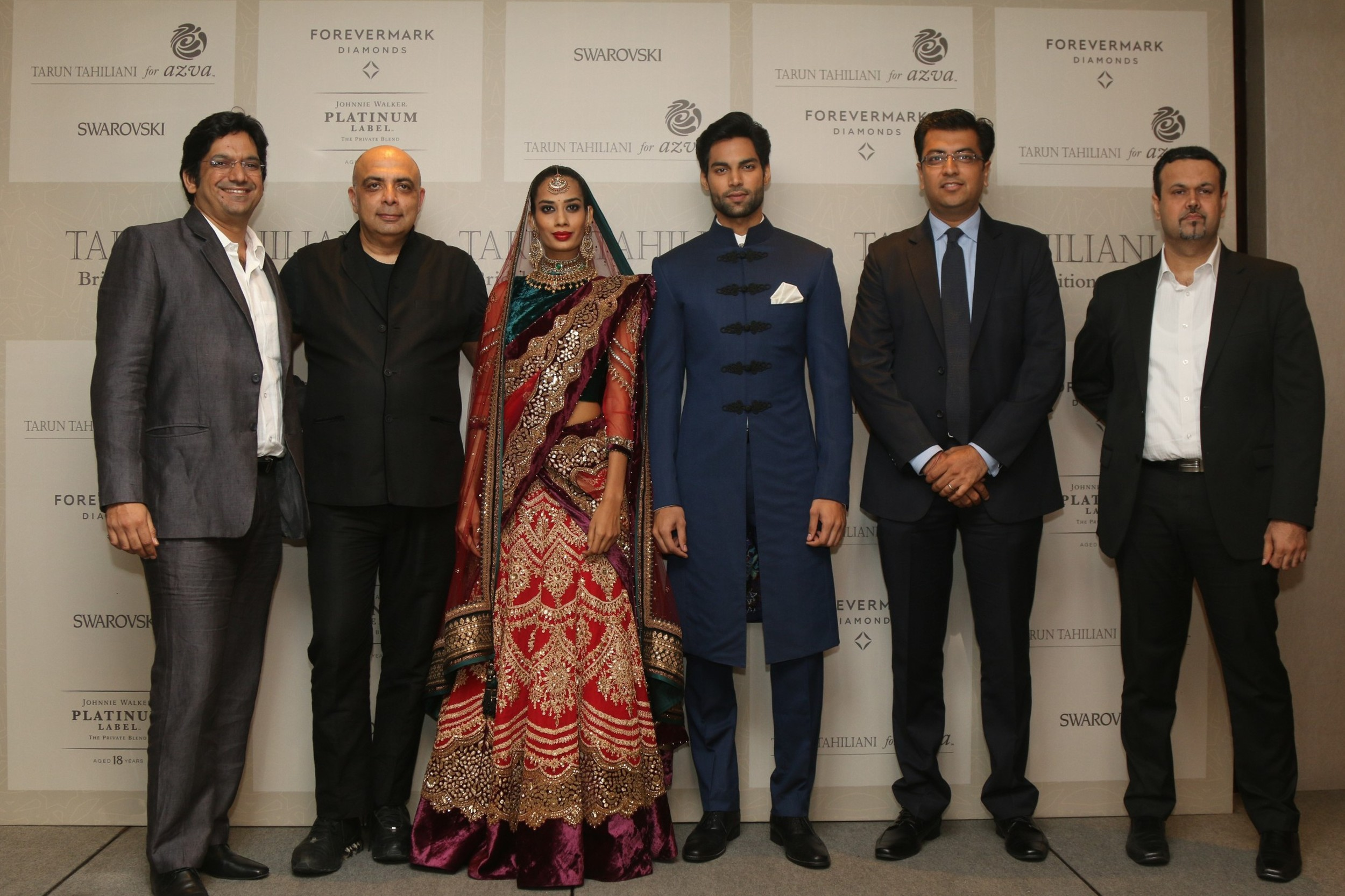 Vipin Sharma, DIrector Jewlery WGC, Tarun Tahiliani,Collection, Sachin Jain, MD Forevermark India, Bhavesh Somaia, Mrktng and Innovation Director,Diageo India