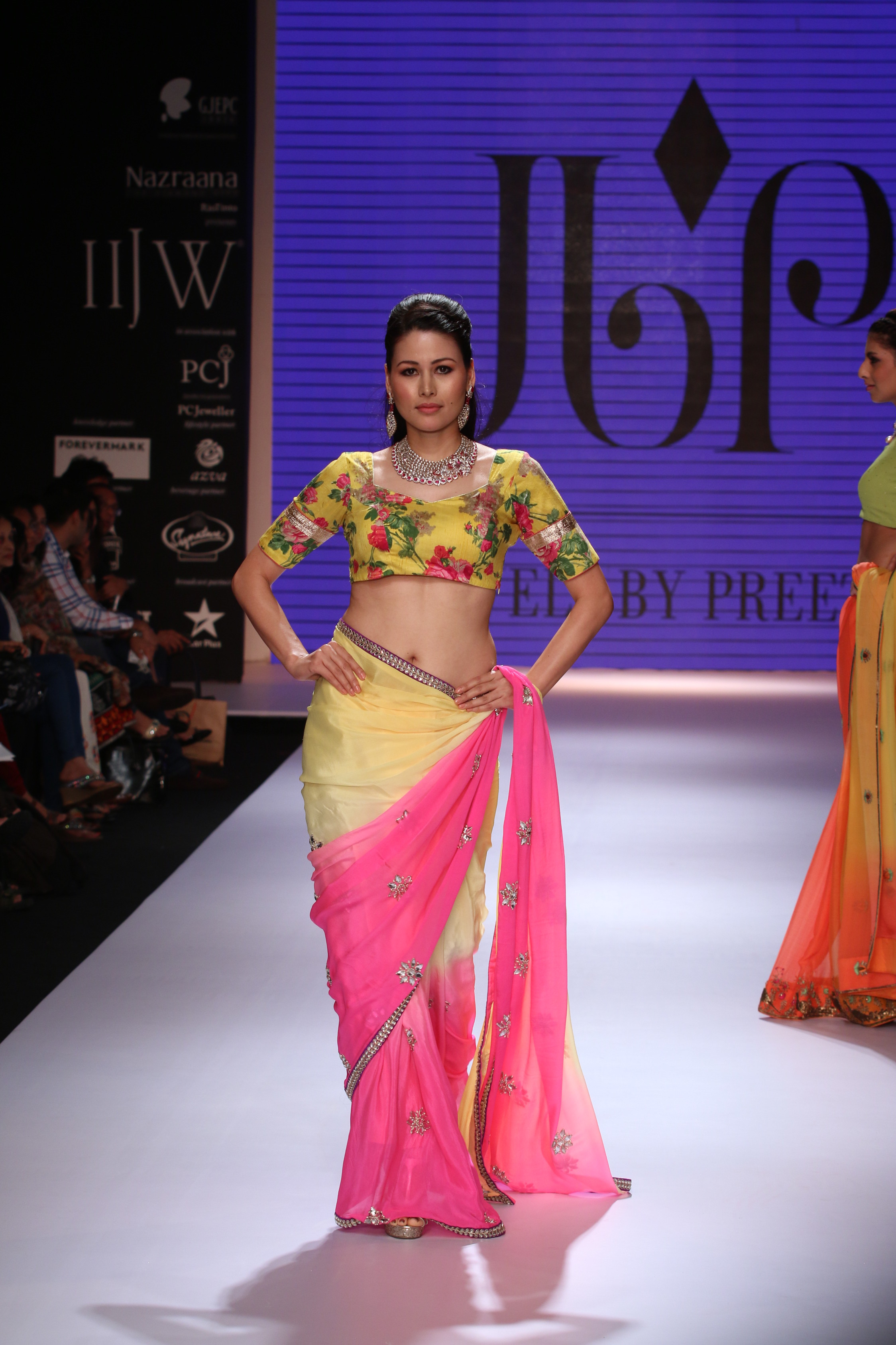 Seen at India International jewellery week - a model walking for Jewels by Preeti 2.JPG