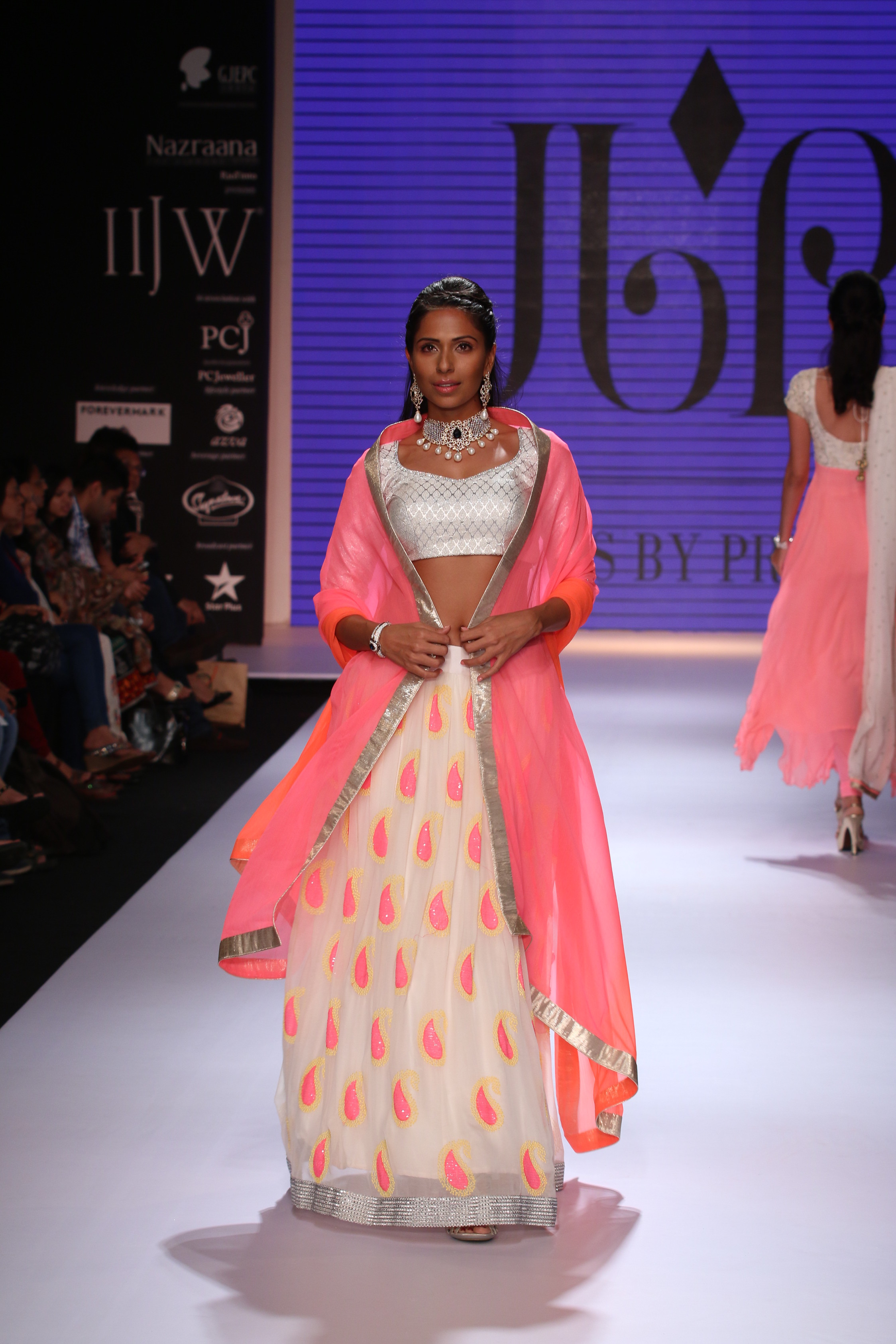 Seen at India International jewellery week - a model walking for Jewels by Preeti 3.JPG