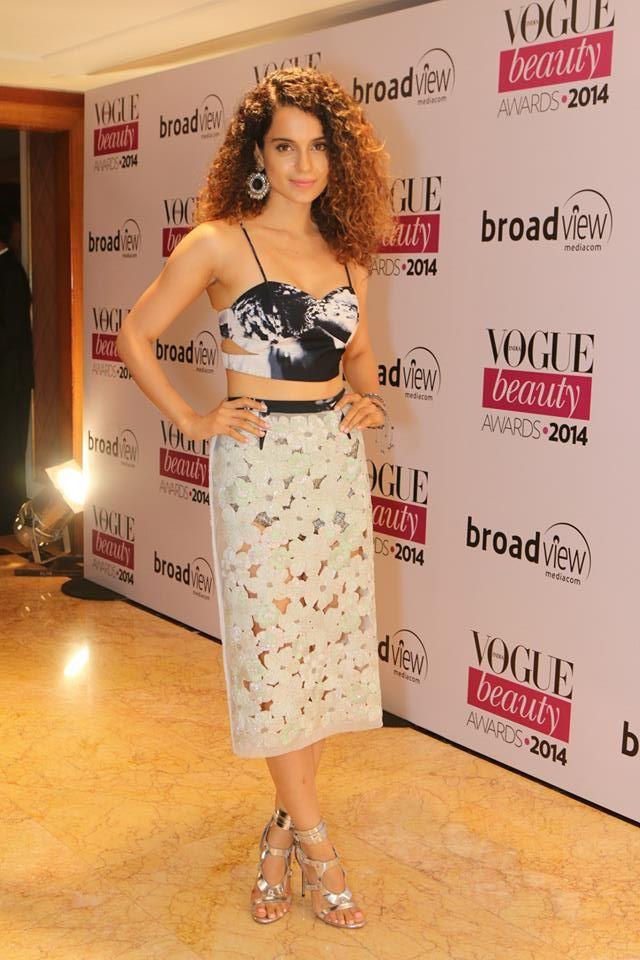 Kangana Ranaut in Monisha Jaisingat the Vogue Beauty Awards 2014