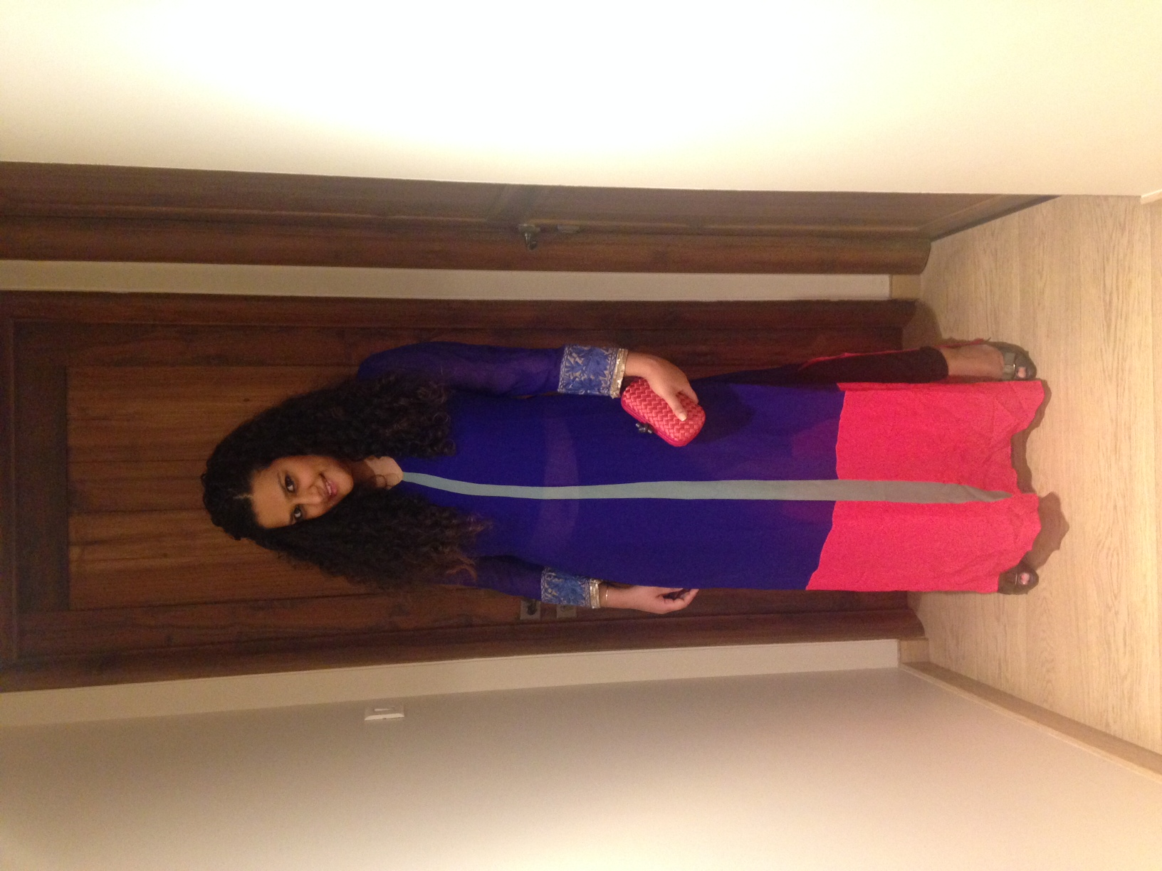 Tunic - Manish Malhotra, Jeans - Gold Sign, Clutch - Bottega Veneta, Shoes - Salvatore Ferrgamo
