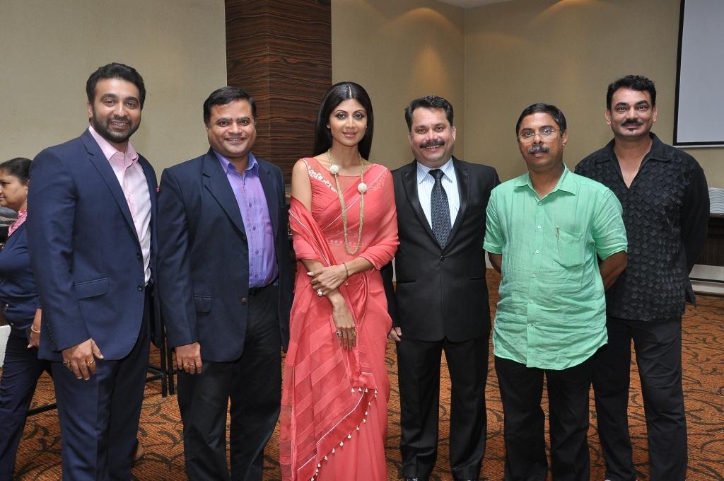 Raj Kundra, Nikhil Desai, Shilpa Shetty, Nilesh Cabral, Dilip Parulekar and Wendell Rodricks