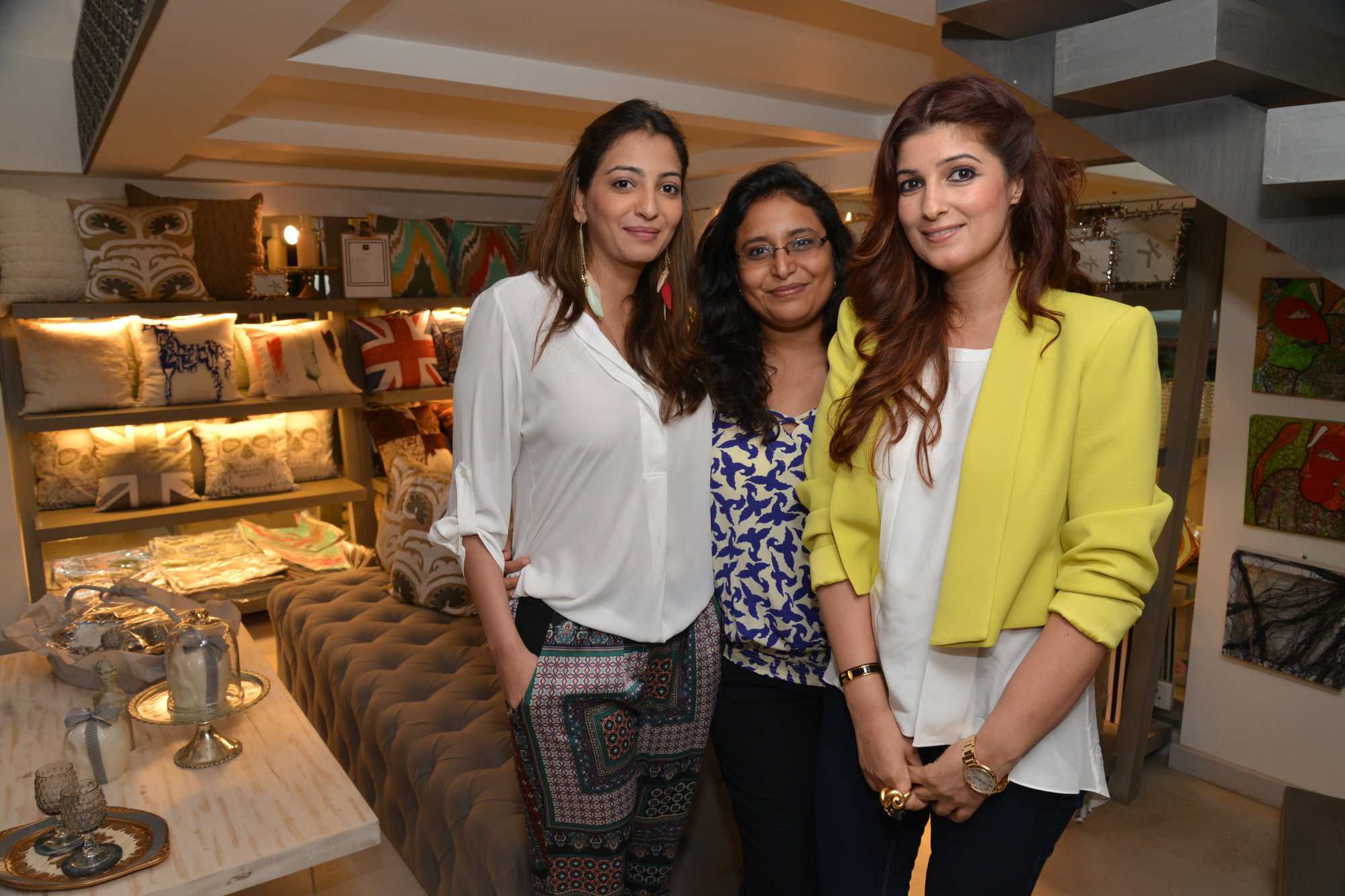 Anjori Alagh, Sanvari Alagh Nair and Twinkle Khanna