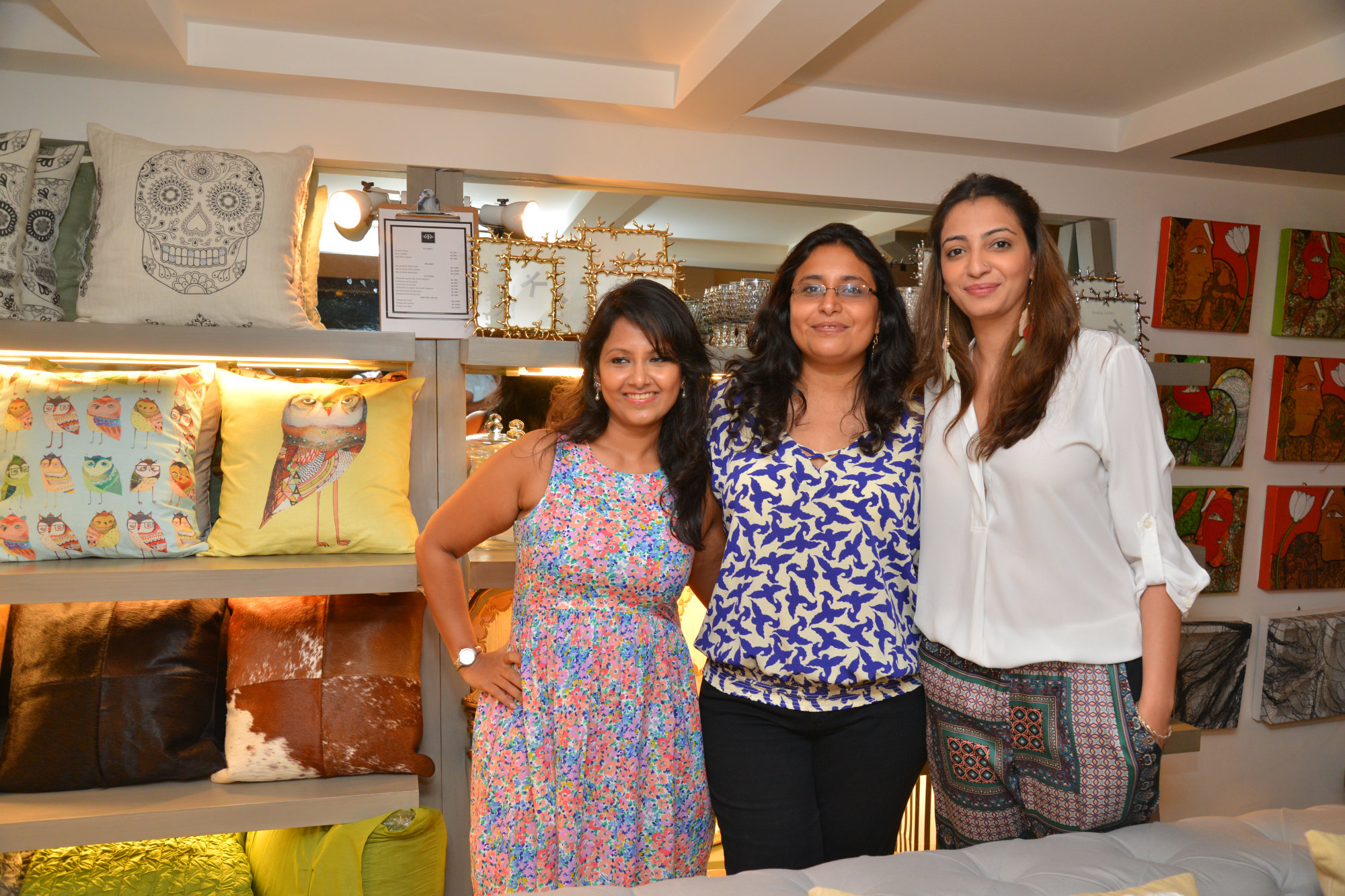 Hosts Sharanya Rao, Sanvari Alagh Nair and Anjori Alagh