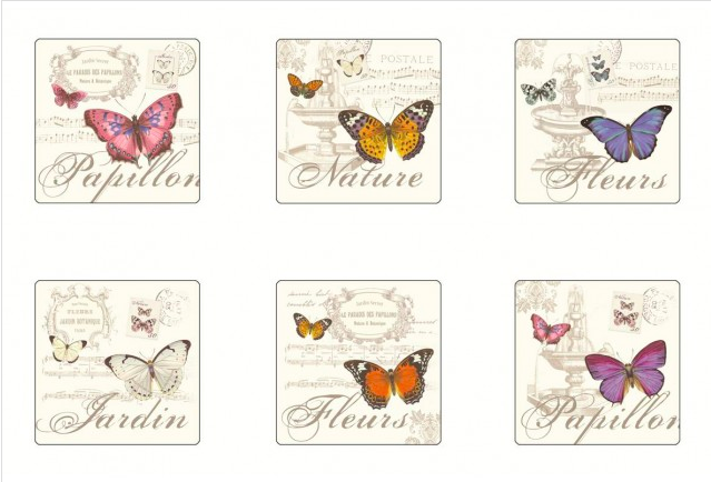 Papillon Cork Based Coasters