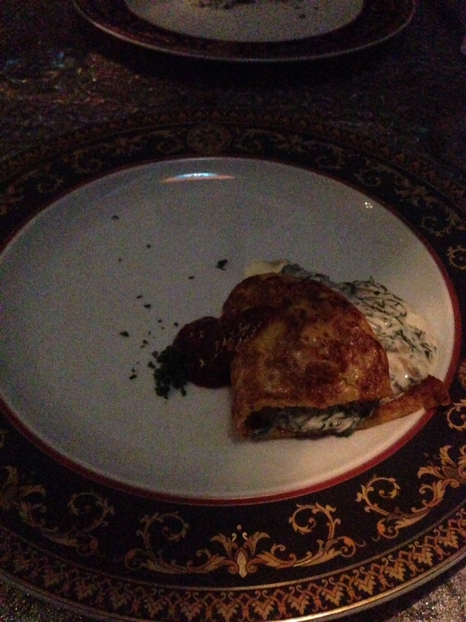 Entrees ~ Chef's Special Salad, Dijaj m'qualli, Spanakos Menemen