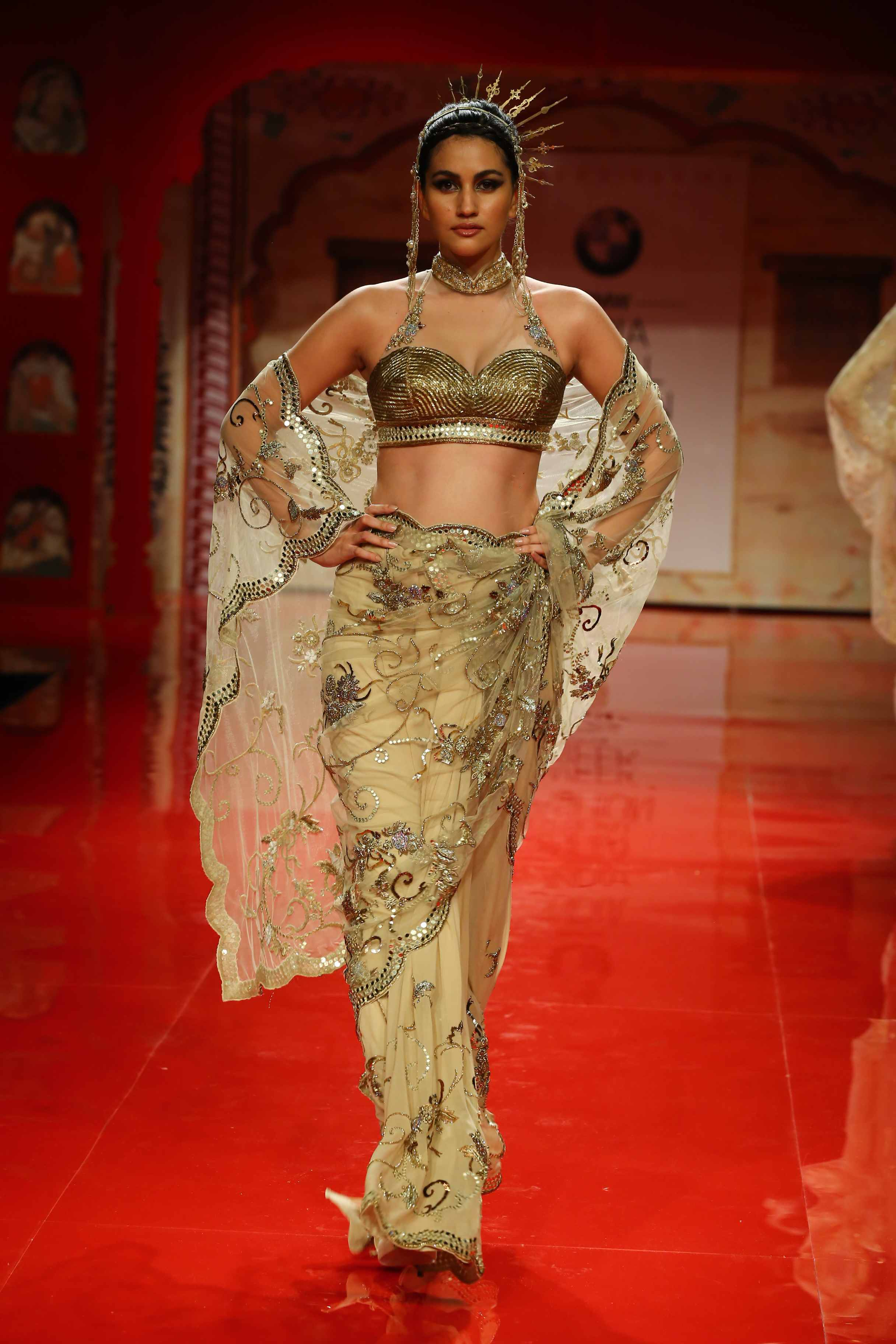 Seen at BMW India Bridal Fashion Week 2014 in association with AZVA at Suneet Varma's show at DLF Emporio (9).jpg