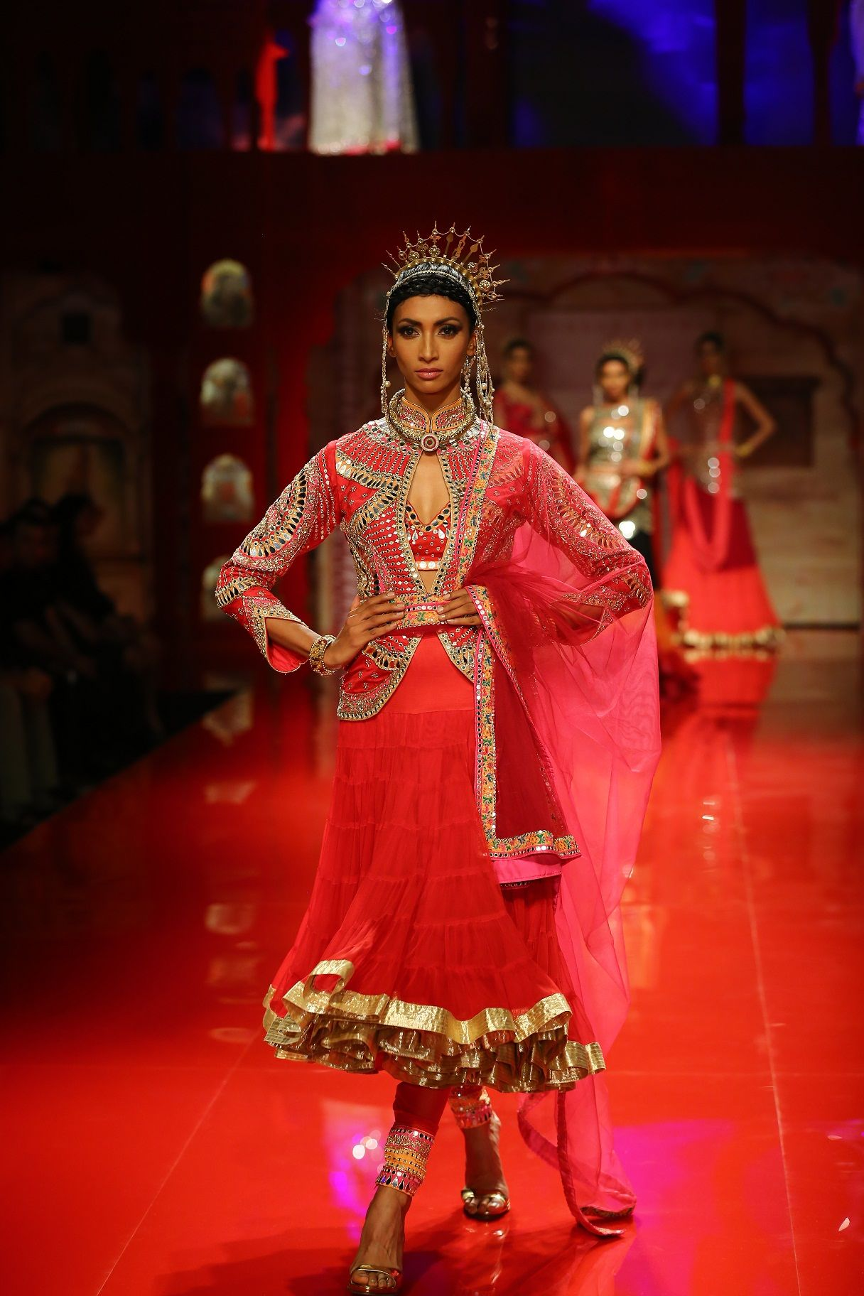 Seen at BMW India Bridal Fashion Week 2014 in association with AZVA at Suneet Varma's show at DLF Emporio (10).jpg