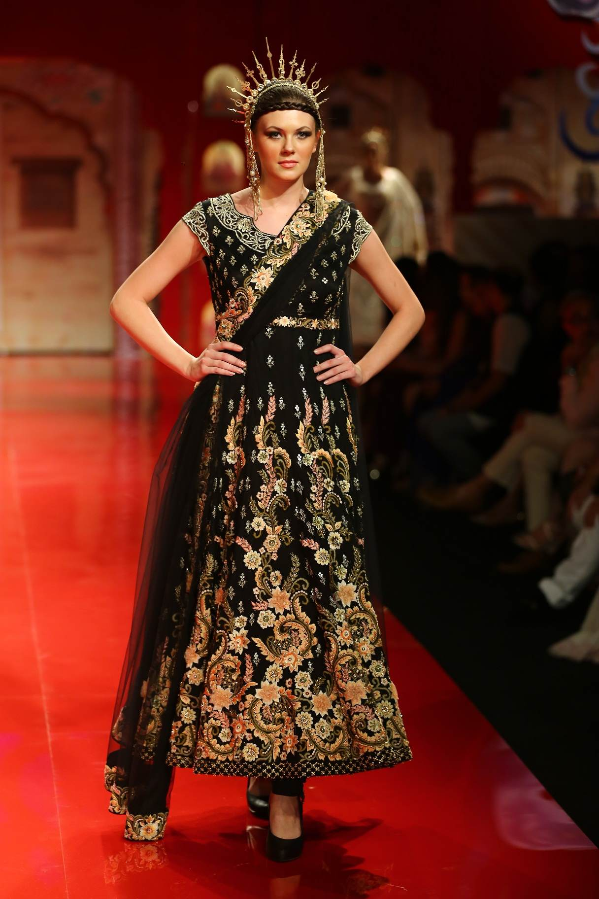 Seen at BMW India Bridal Fashion Week 2014 in association with AZVA at Suneet Varma's show at DLF Emporio (13).jpg