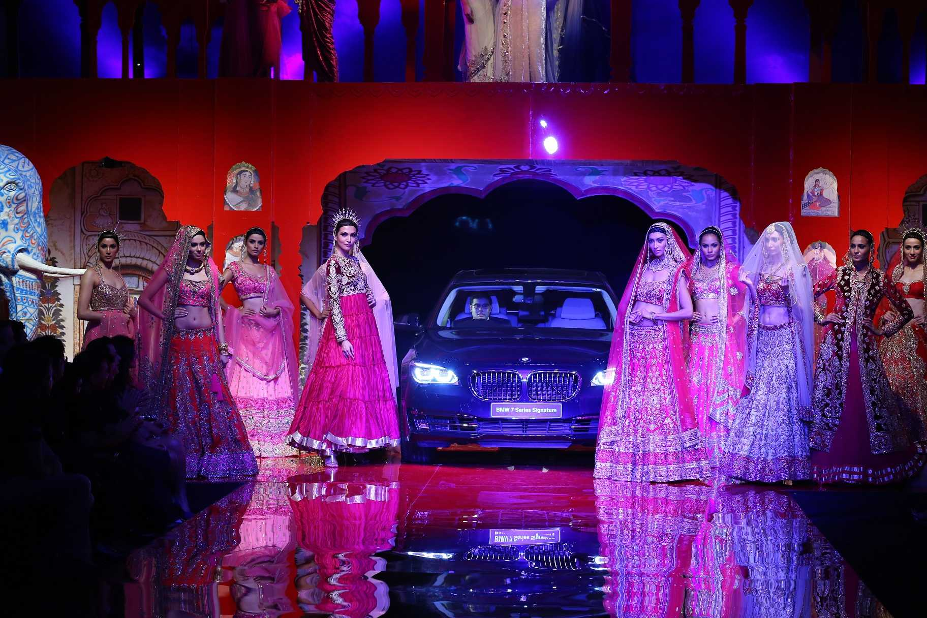 Seen at BMW India Bridal Fashion Week 2014 in association with AZVA at Suneet Varma's show at DLF Emporio (18).jpg