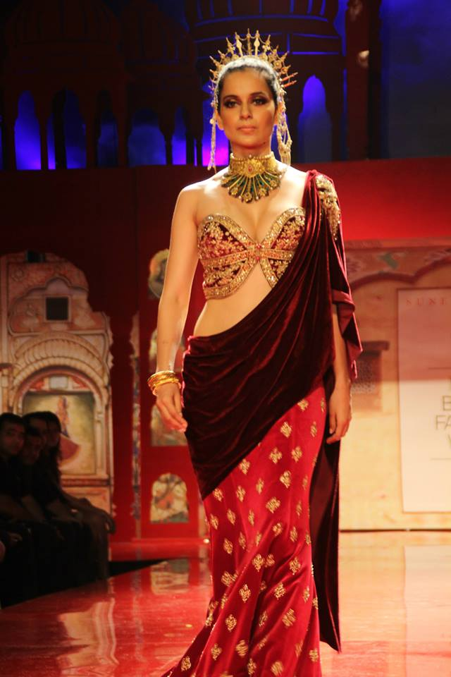 Seen at BMW India Bridal Fashion Week 2014 in association with AZVA at Suneet Varma's show at DLF Emporio (111).jpg