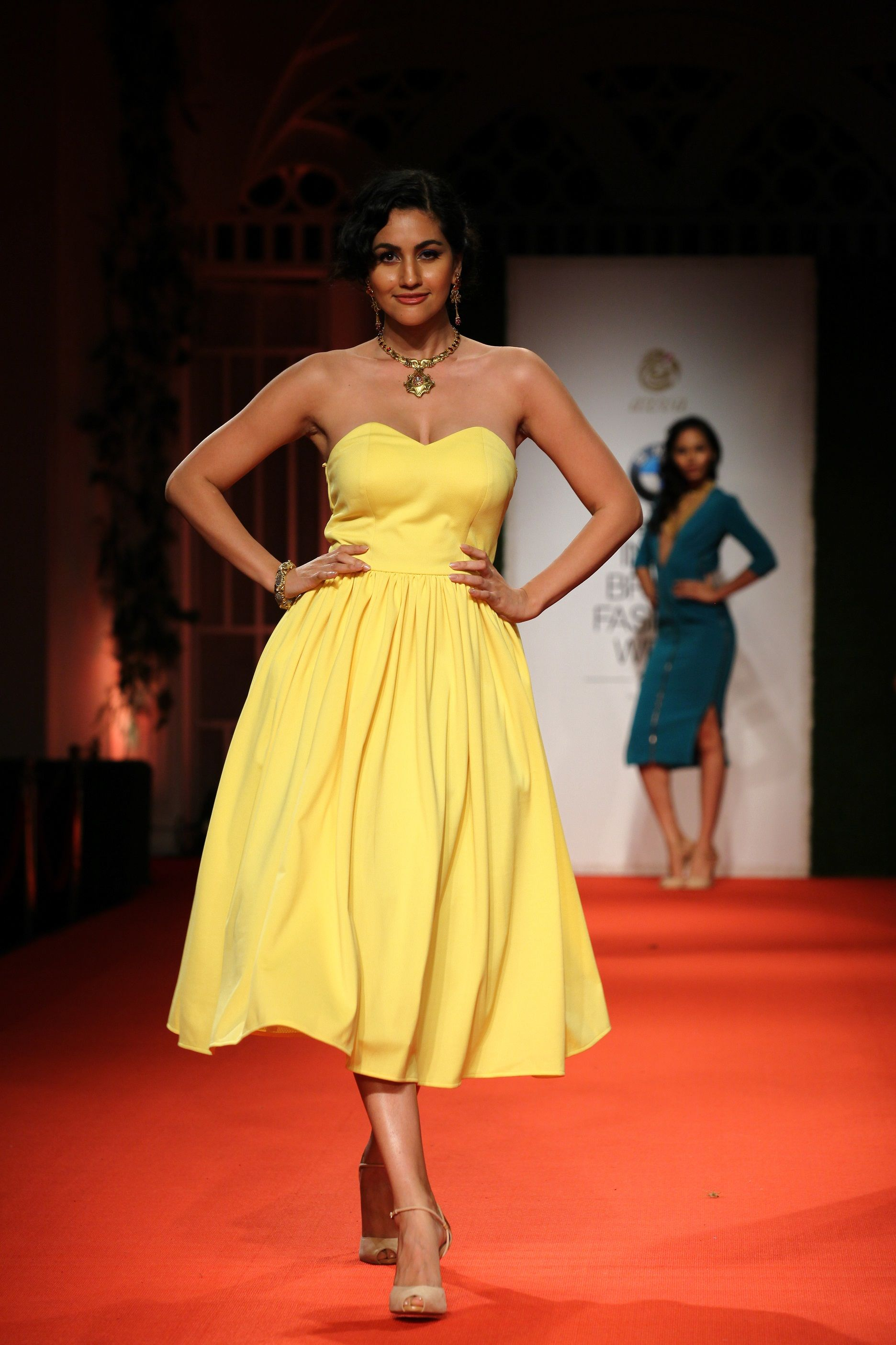Azva Presents Gold Jewellery in its Most Elegant and Glamourous Avatar at BMW India Bridal Fashion Week 2014 in association with AZVA at DLF Emporio (3).jpg
