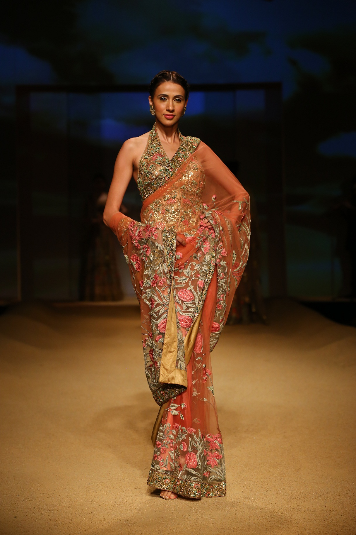 Seen at BMW India Bridal Fahsion Week 2014 in association with AZVA at  Ashima Leena's  show at DLF Emporio (28).JPG