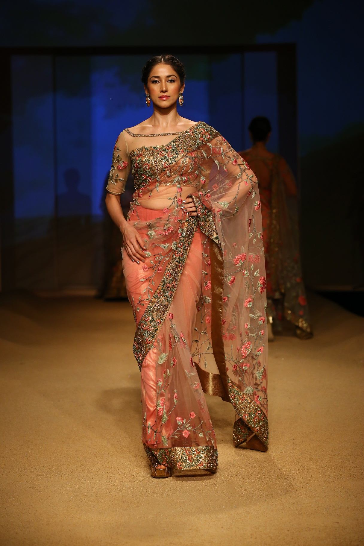 Seen at BMW India Bridal Fahsion Week 2014 in association with AZVA at  Ashima Leena's  show at DLF Emporio (29).jpg