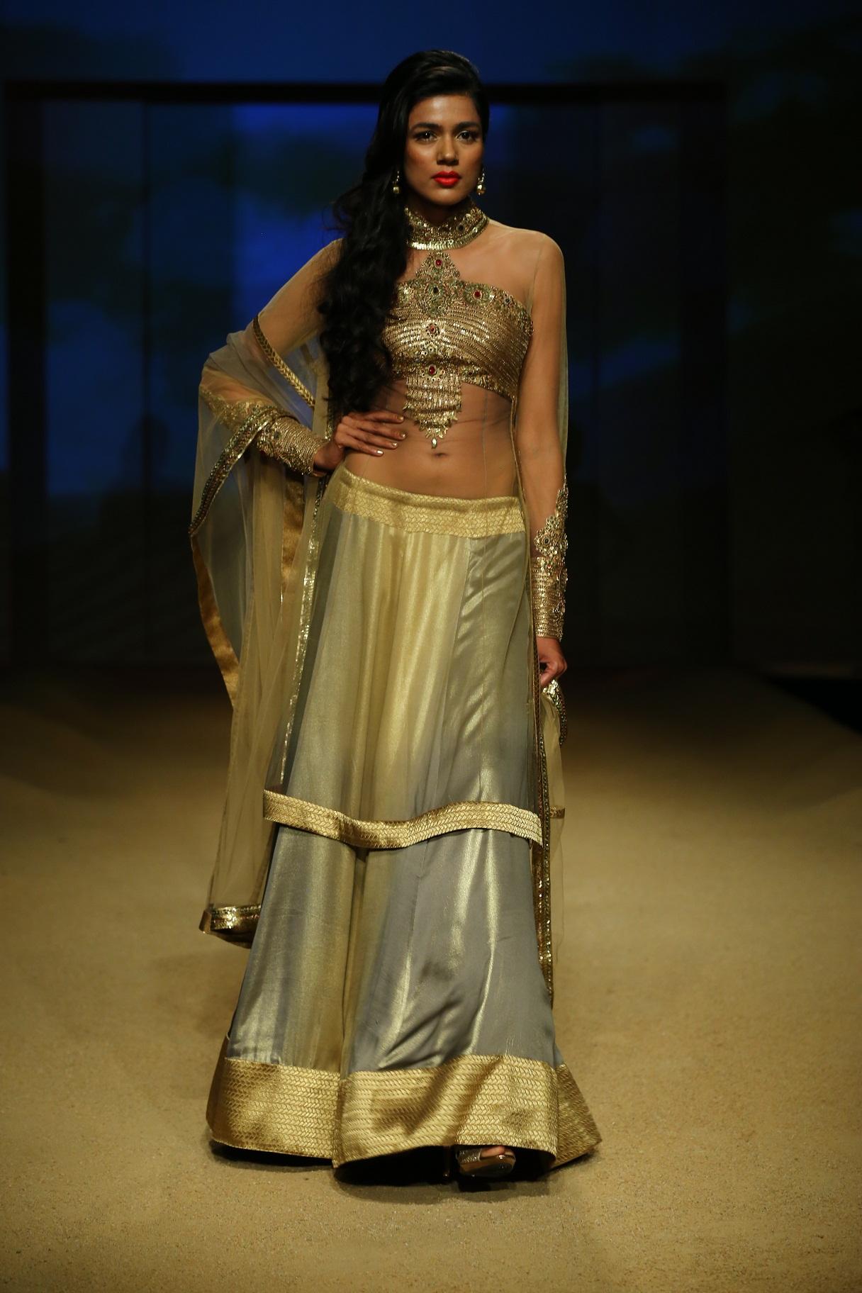 Seen at BMW India Bridal Fahsion Week 2014 in association with AZVA at  Ashima Leena's  show at DLF Emporio (32).JPG