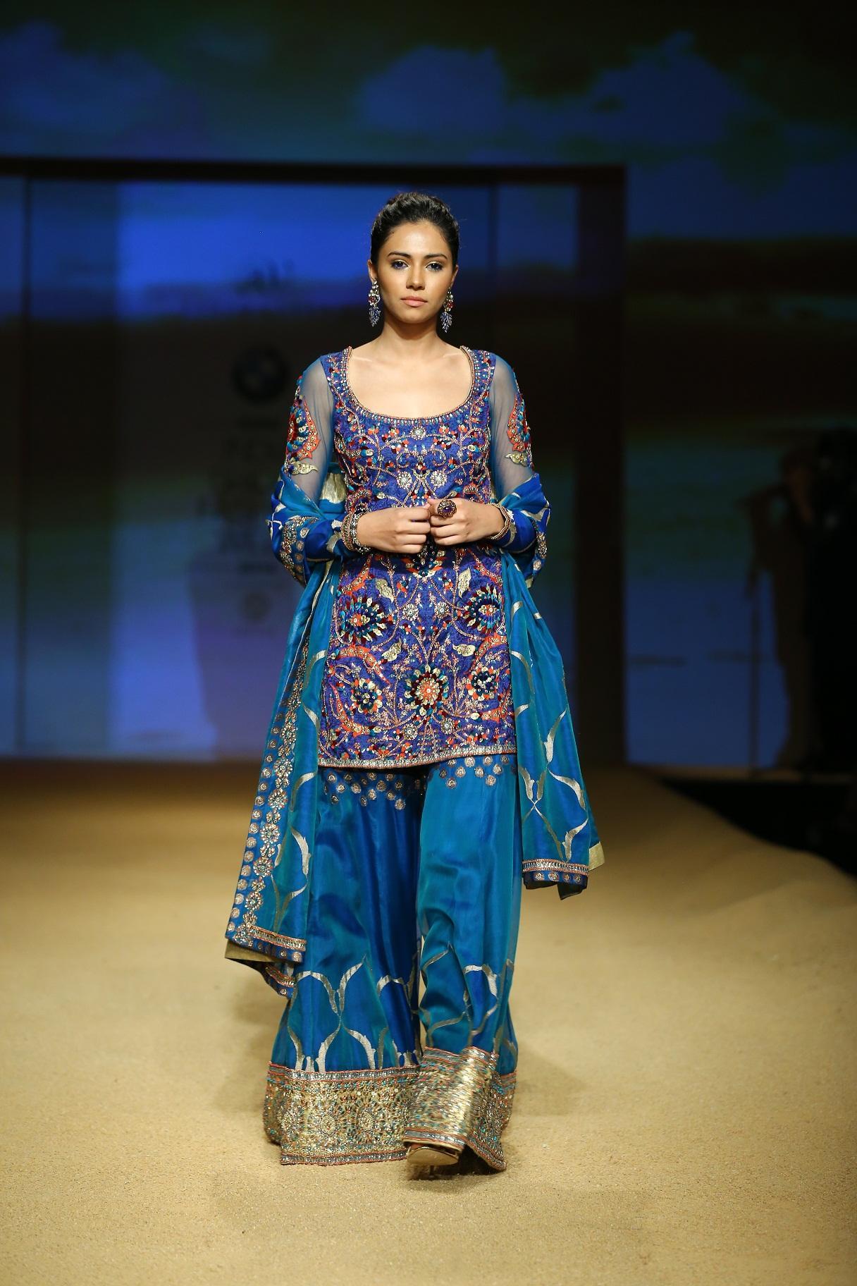 Seen at BMW India Bridal Fahsion Week 2014 in association with AZVA at  Ashima Leena's  show at DLF Emporio (38).jpg