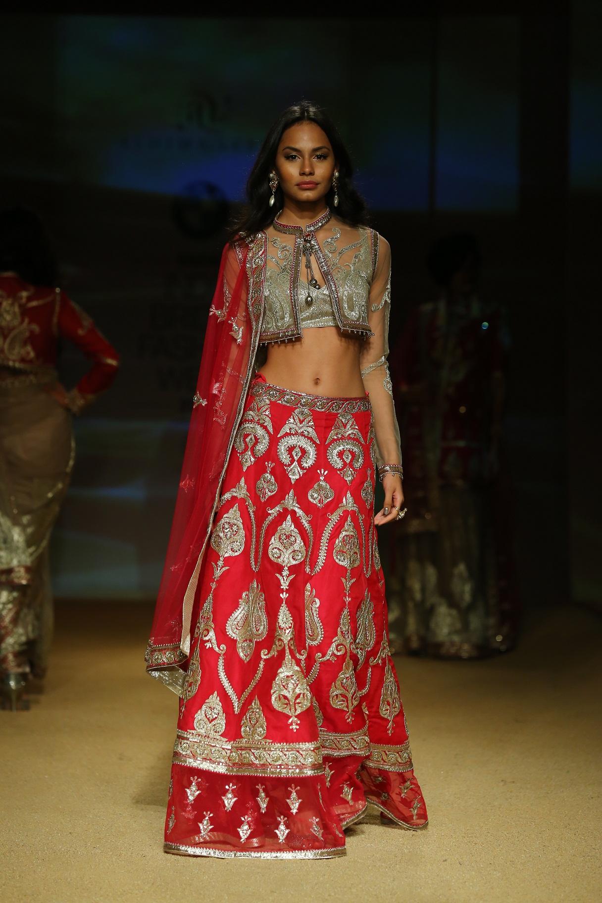 Seen at BMW India Bridal Fahsion Week 2014 in association with AZVA at  Ashima Leena's  show at DLF Emporio (36).JPG