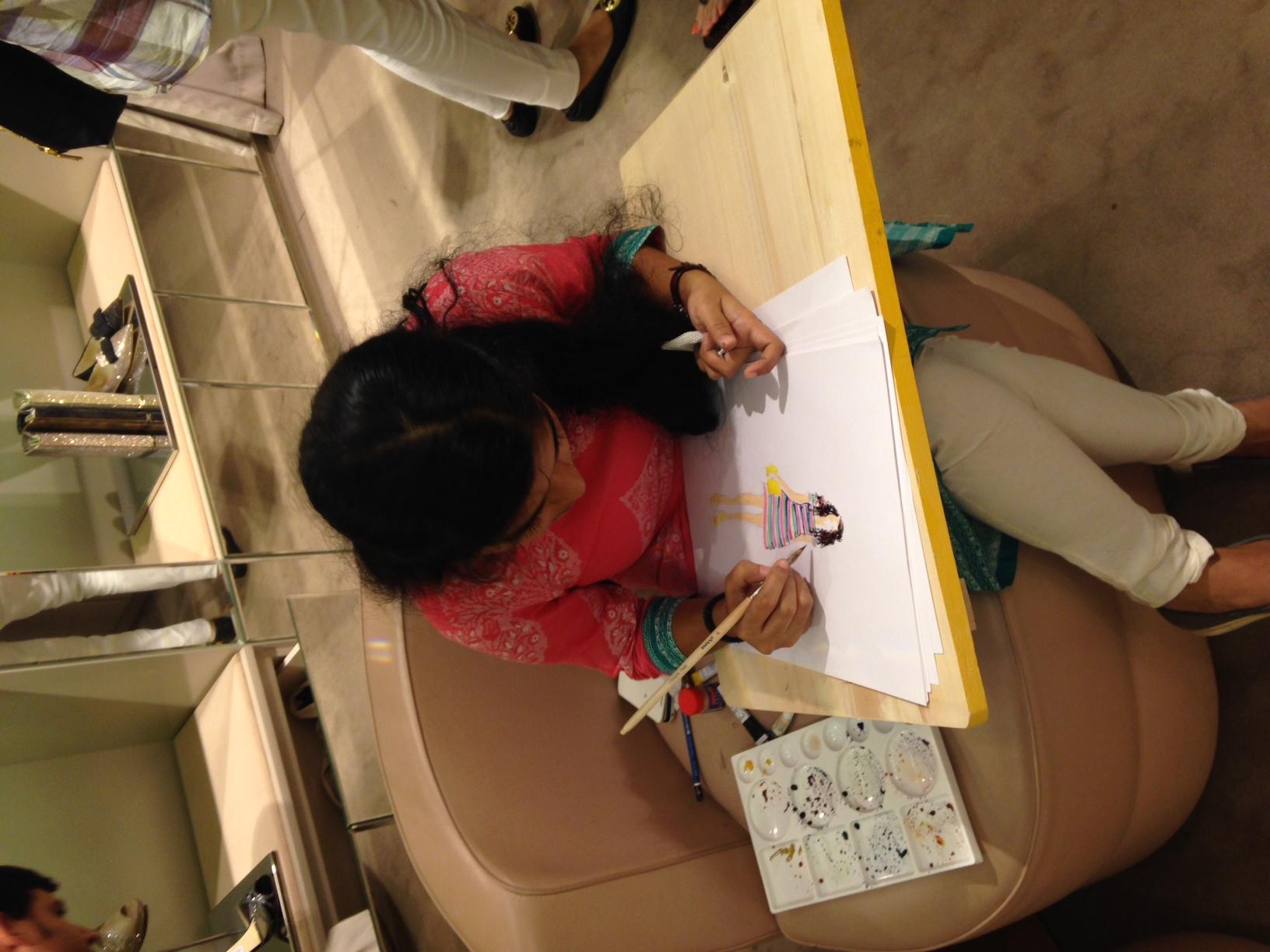 Artist Anushree at work...