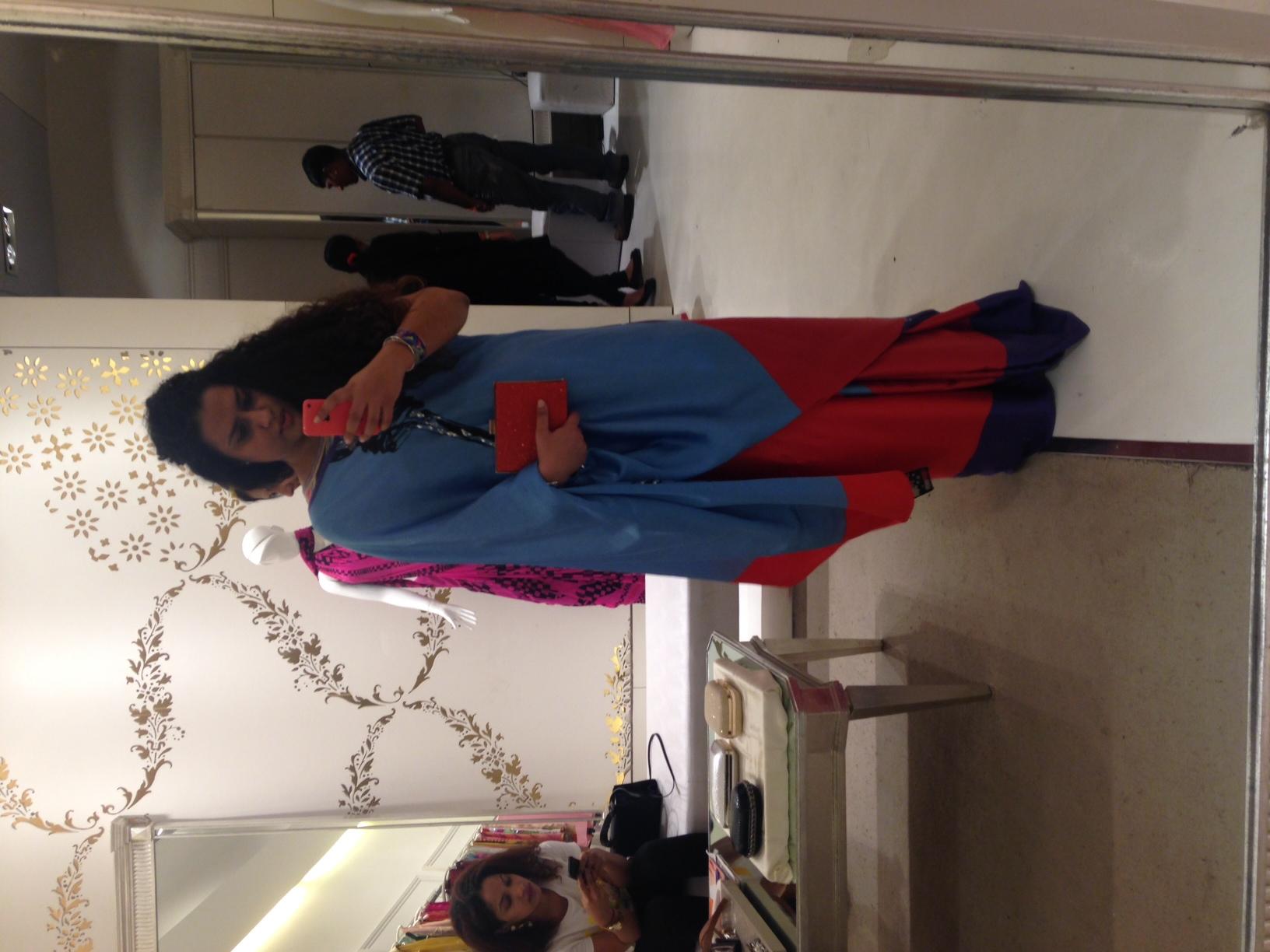 Saree & Clutch both from Satya Paul