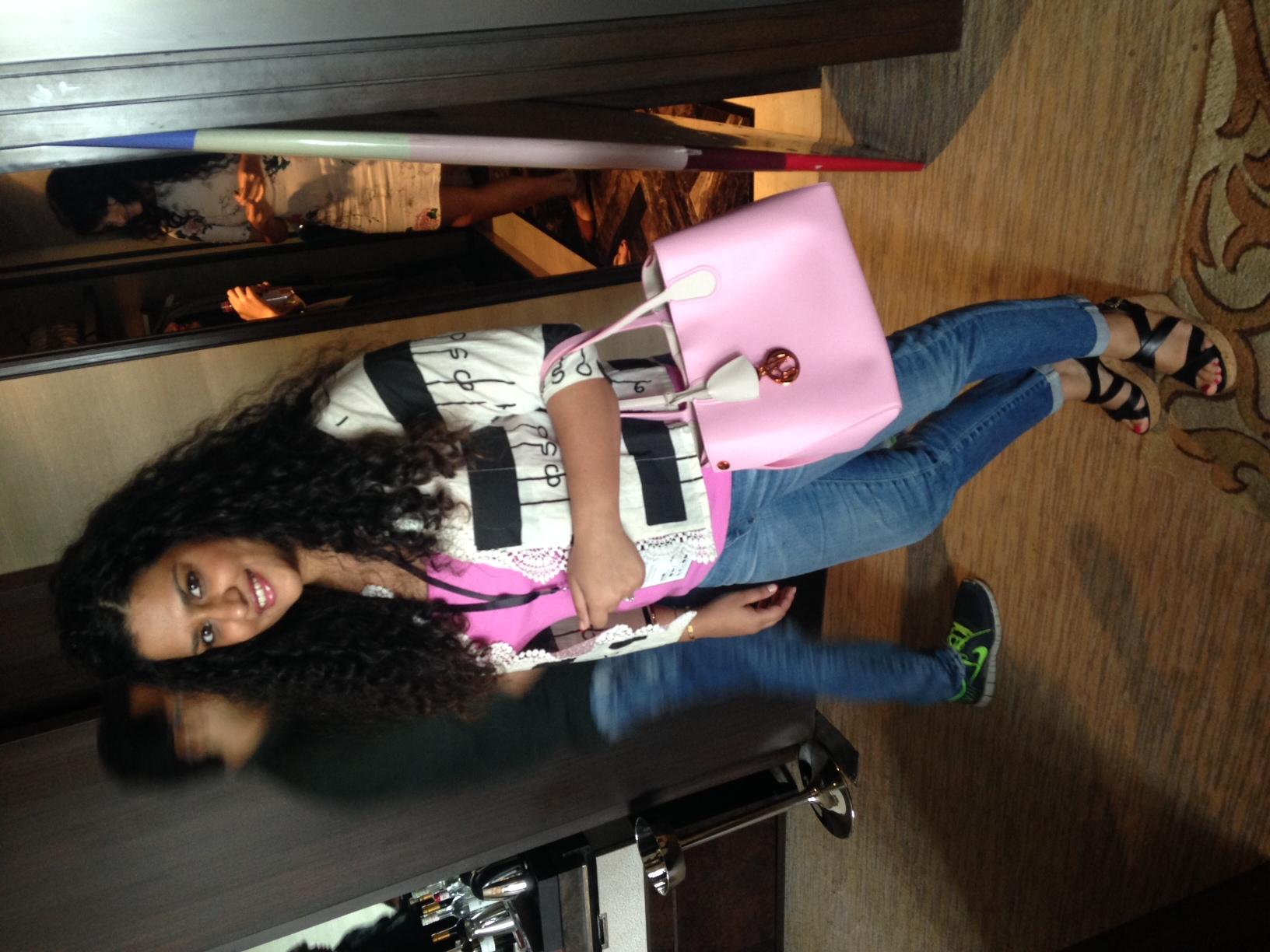 Jacket - Masaba Gupta, Tank - Ralph Lauren, Bag - Dior, Denims - AG Jeans, Shoes - Salvatore Ferragamo