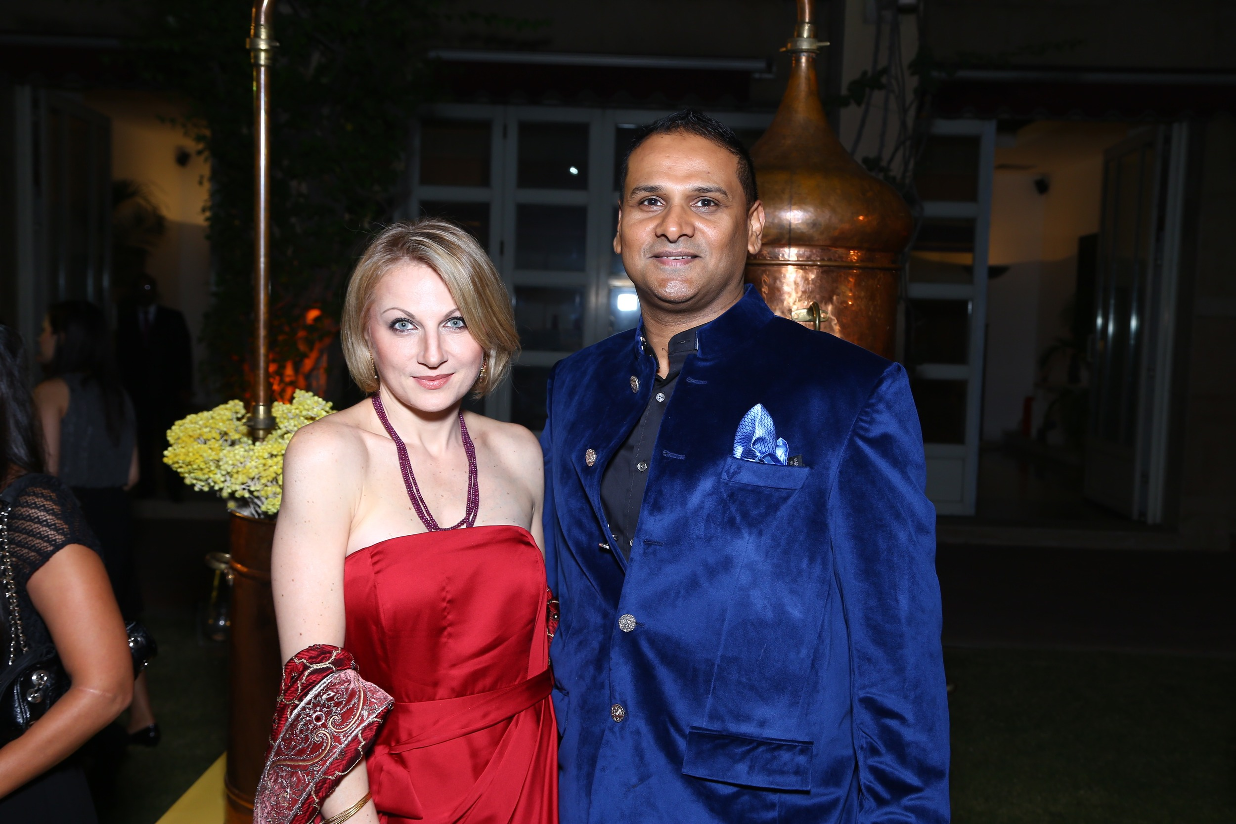 Vesna Jacob with husband Anurag Jacob