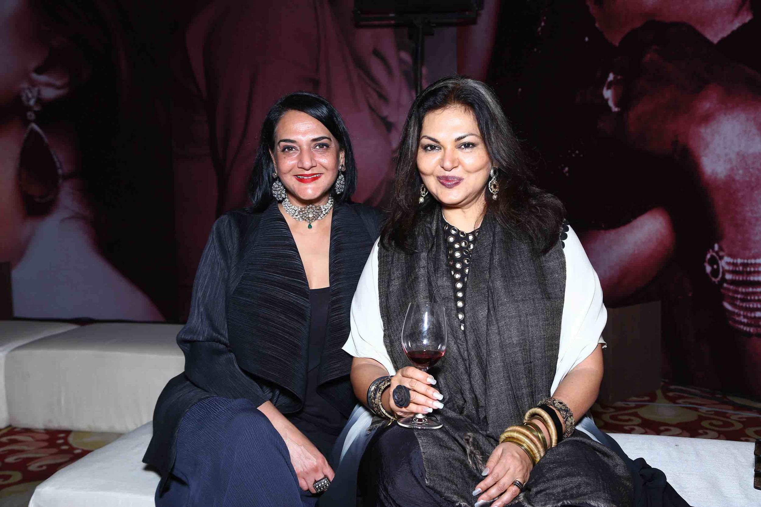 Poonam Bhagat and Malavika Sangghvi