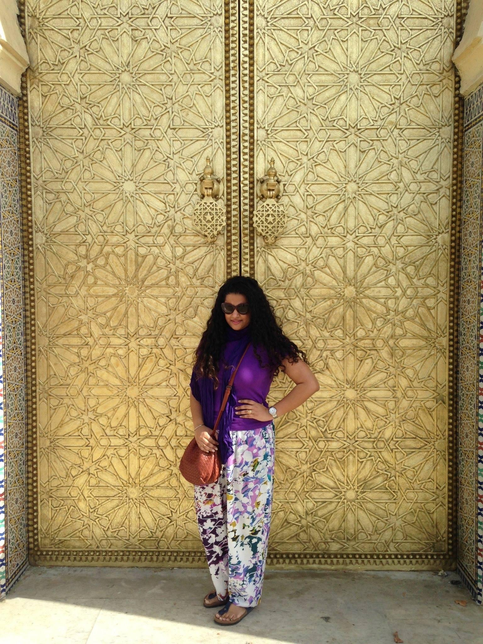 Fes   Ralph Lauren T-shirt, Pashma Pants, Scarf from Koovs.com ,Birkenstock Sandals, Bottega Veneta Sling, Dior Sunglasses