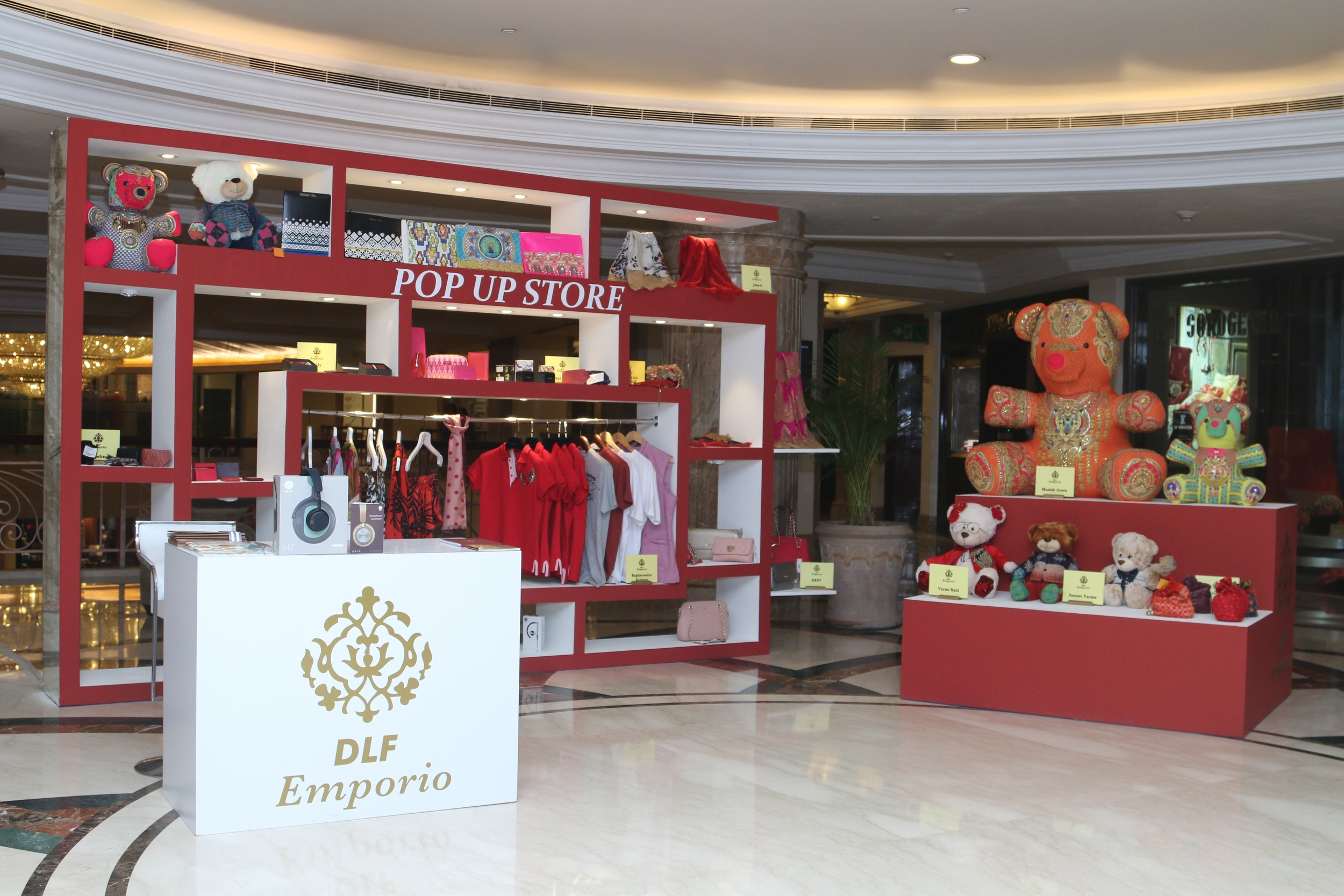 'Made With Love'a stunning pop up store, designer teddy bears and gifts from India's leading fashion designers at DLF Emporio in New Delhi