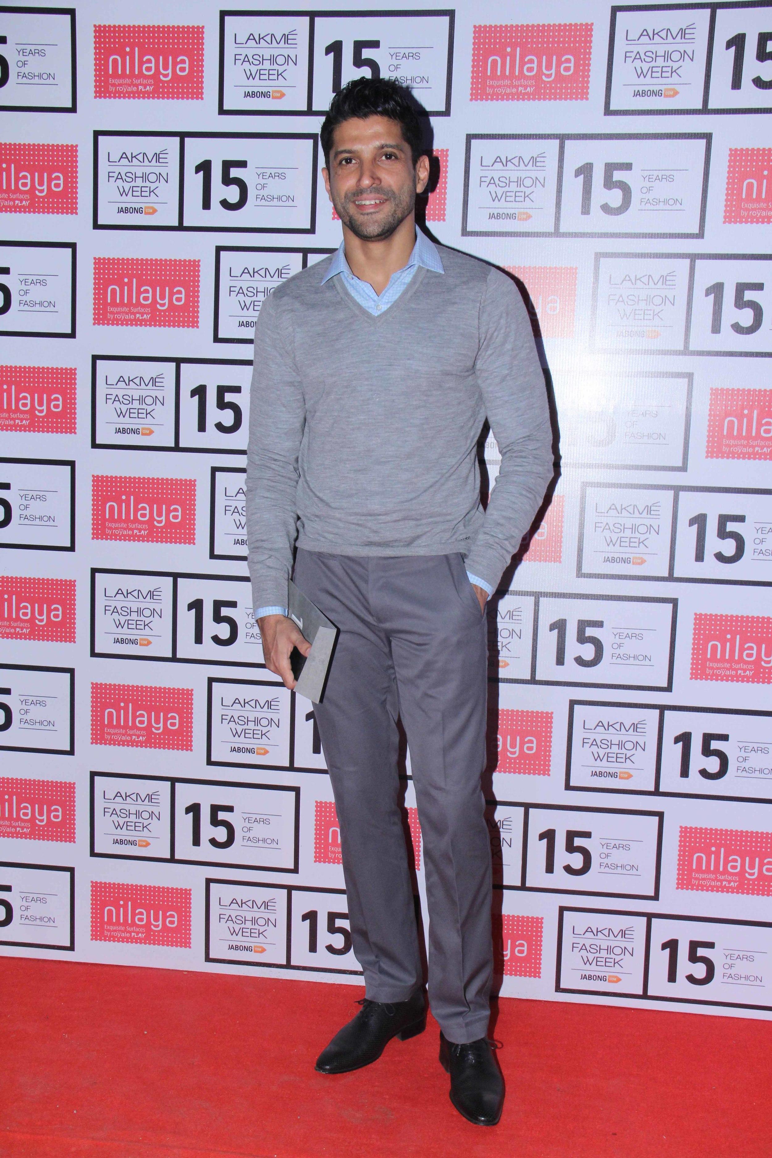 Farhan Akhtar at Lakme Fashion Week Summer Resort 2015.jpg