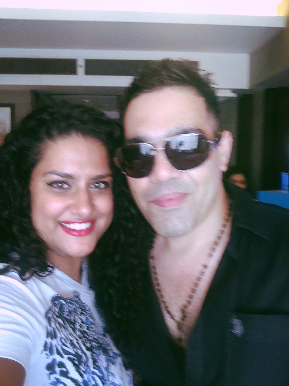 Selfie Time With Celebrity Hair Stylist Savio John Pereira After He Styled My Hair :-)
