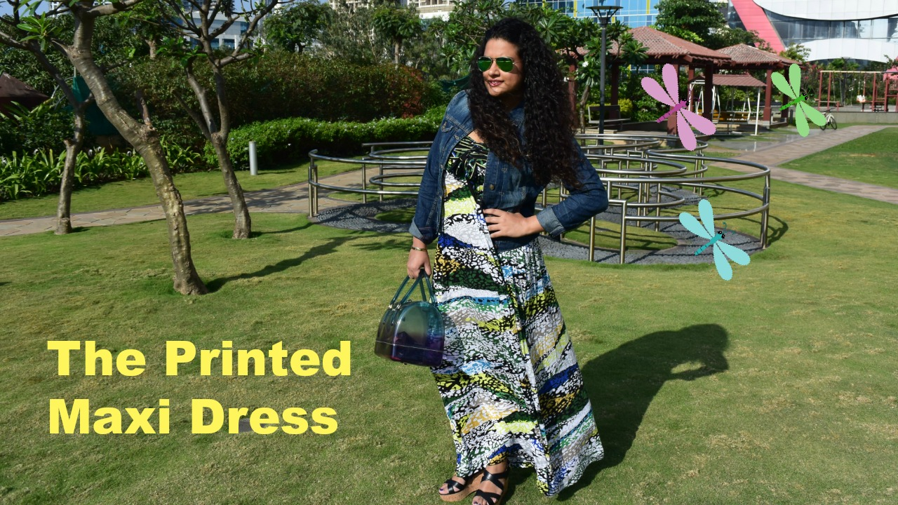 Dress: BCBG Max Azria, Jacket: Zara, Sunglasses: Ray-Ban, Bag: Furla, Shoes: Salvatore Ferragamo, Rings: Manish Arora for Amrapali