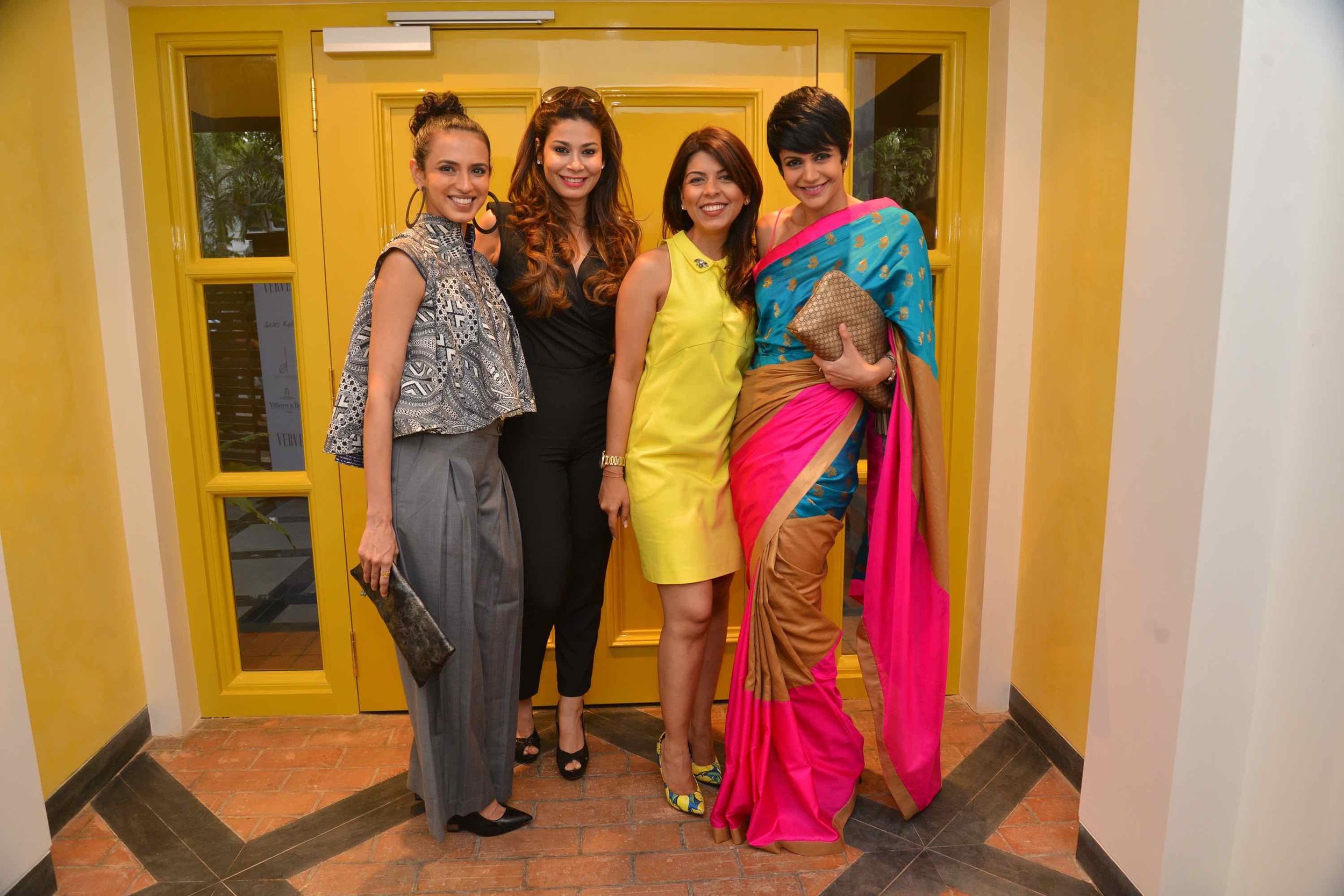 Aparna Badlani, Shaheen Abbas, Tanaaz Bhatia And Mandira Bedi At The Villeroy & Boch High Tea
