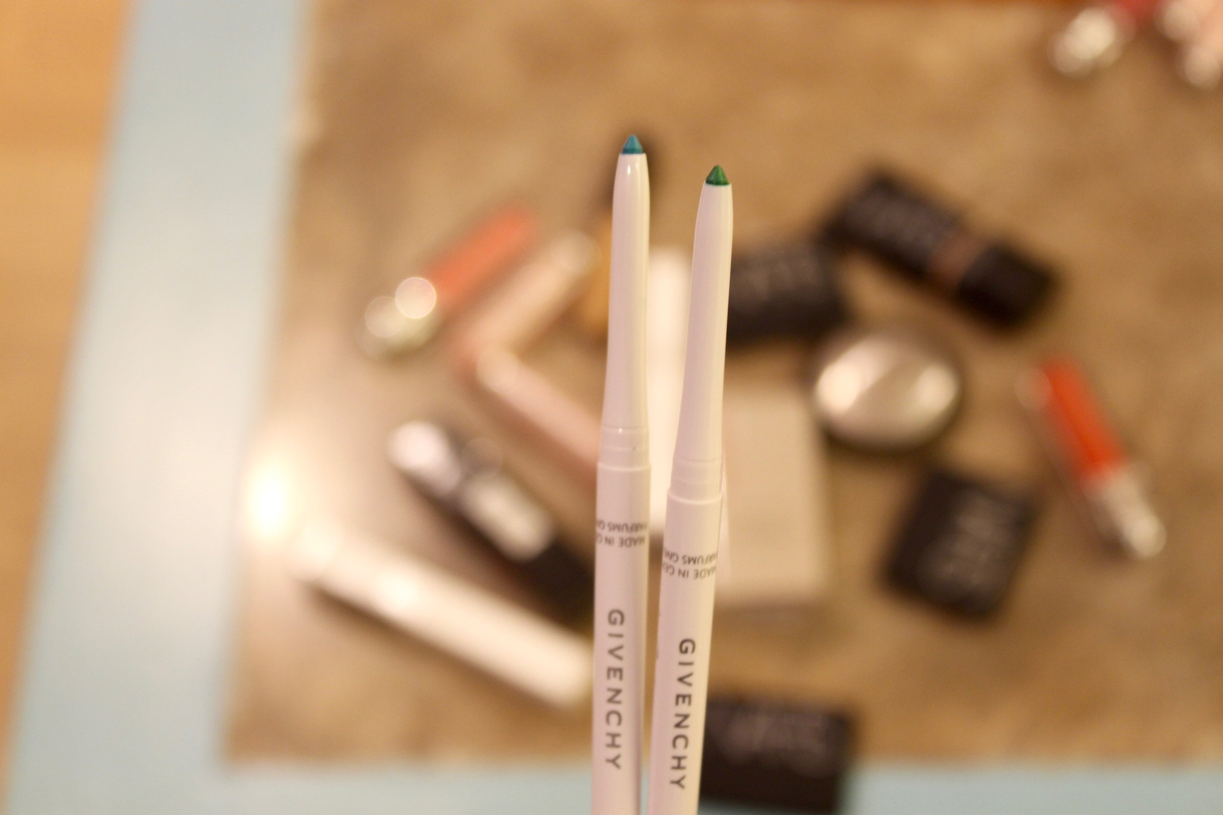 Givenchy Khôl Couture Waterproof Eyeliner No. 3 in Turquoise & No. 5 in Jade