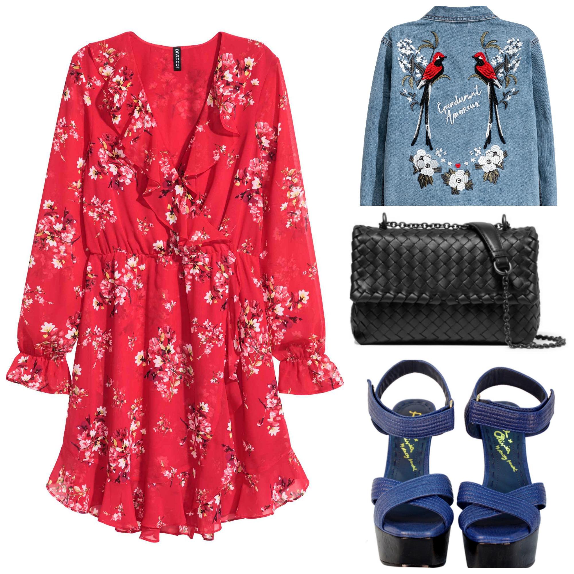 Dress and Jacket: H&M, Bag: Bottega Veneta (Net-A-Porter), Sandals: Alice + Olivia (RockNShop)