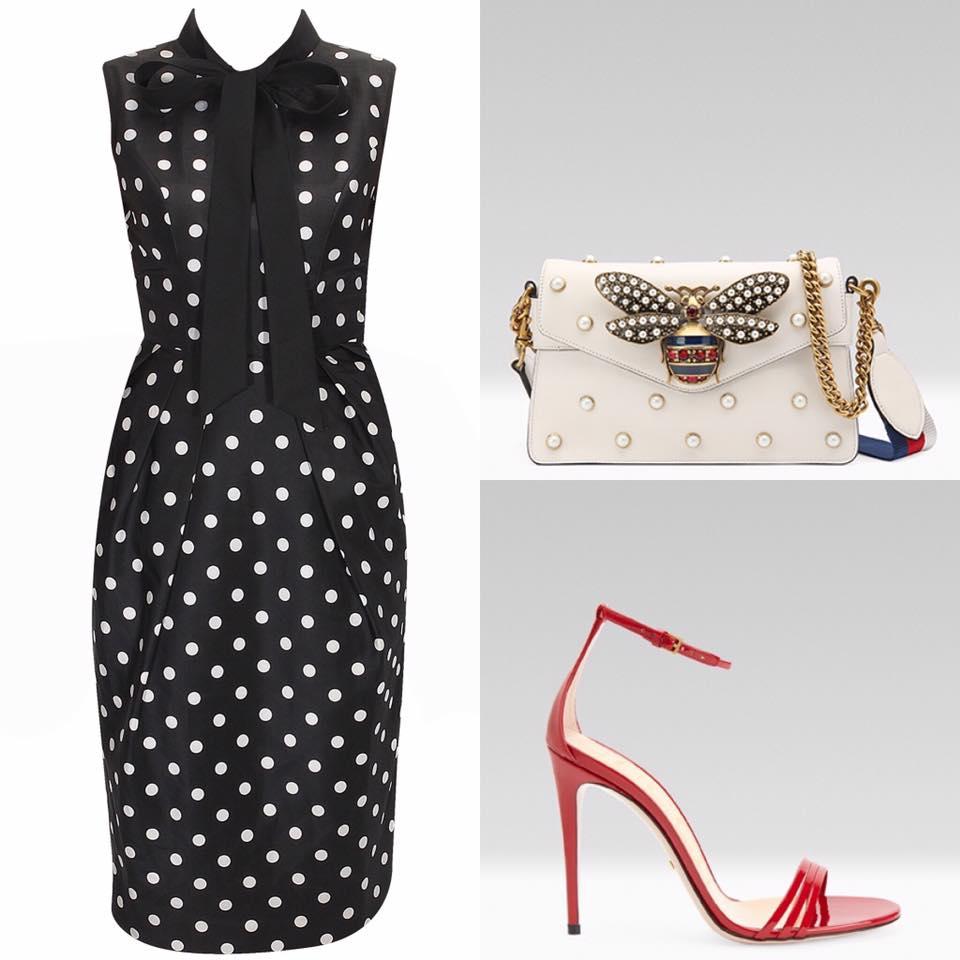 Dress: Ashish N Soni; Shoes & Bag: Gucci
