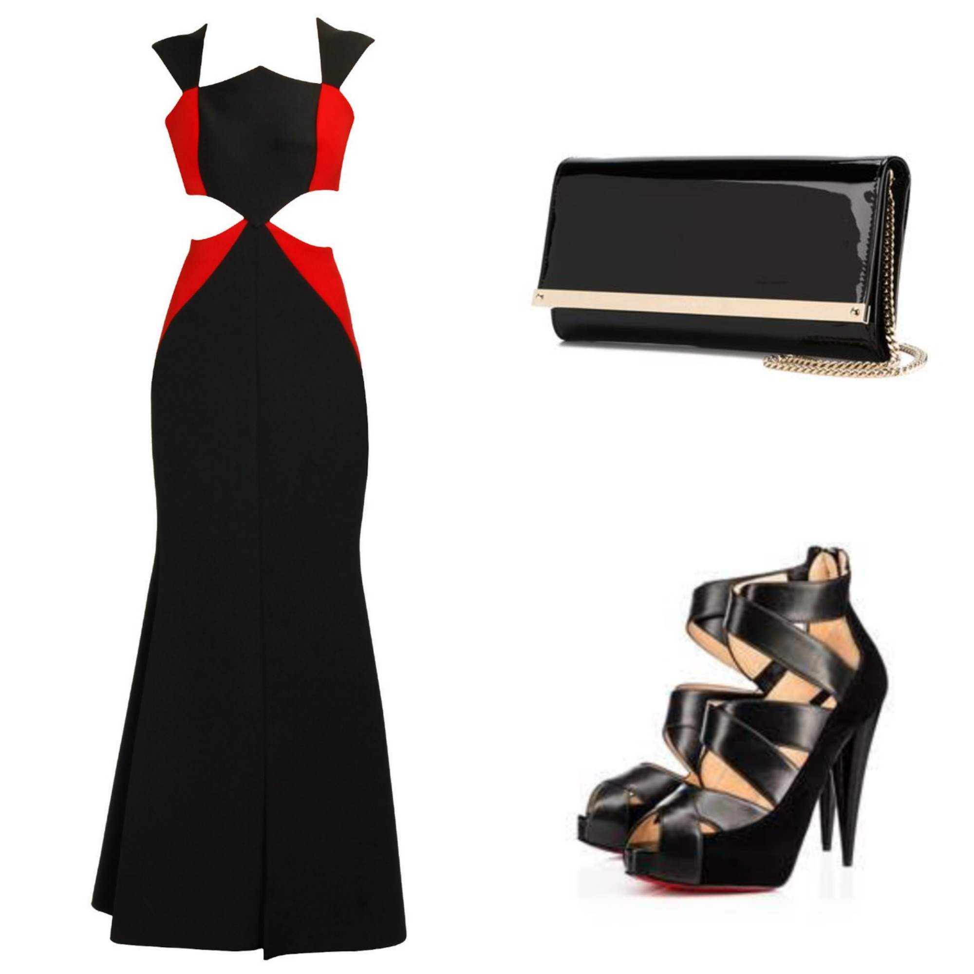 Dress: Carousel by Simran Arya; Shoes: Christian Louboutin; Bag: Jimmy Choo (Farfetch.com)