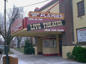 Country Gate Playhouse in the early 2000's, before the new marquee was installed in 2007.