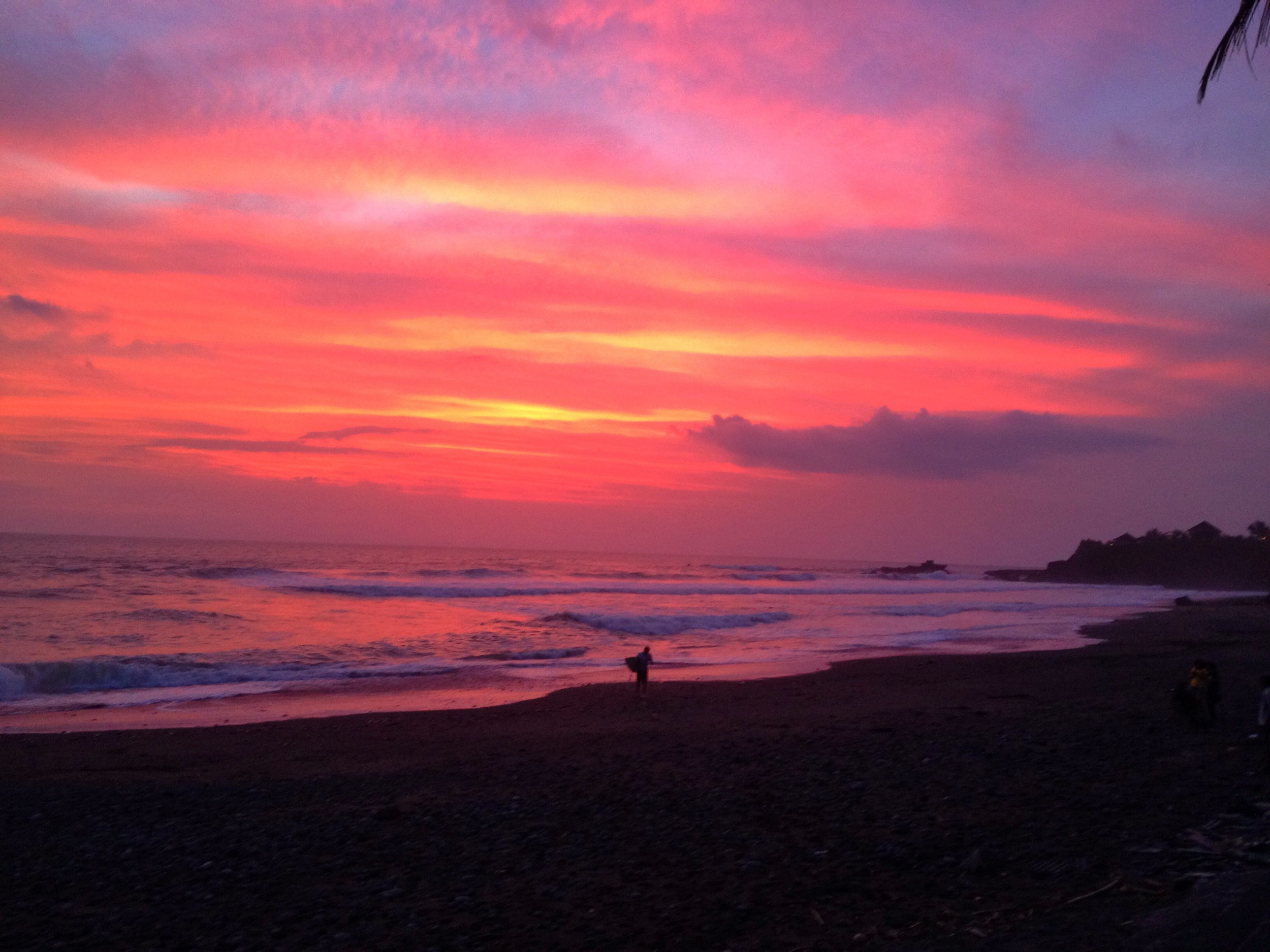 Our first epic sunset in Bali