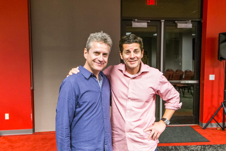 Jewish- American comedian Scott Blakeman and Muslim-American comedian Dean Obeidallah.