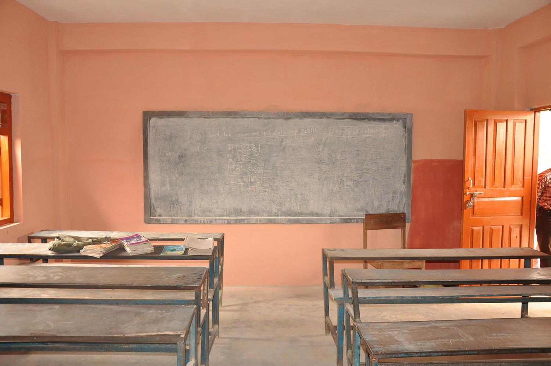 Interior of the classroom.