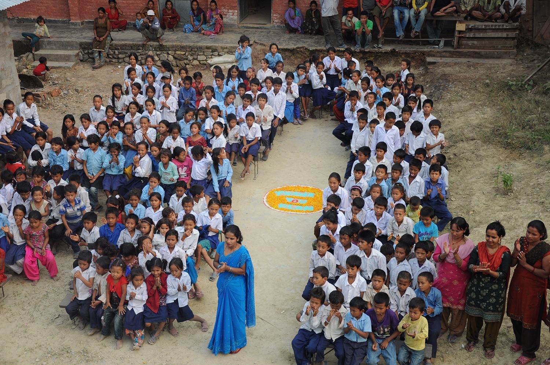 Opening ceremony of the Shree Nepal Elementary School at Amalekhzunj, Nepal. (November 2011)