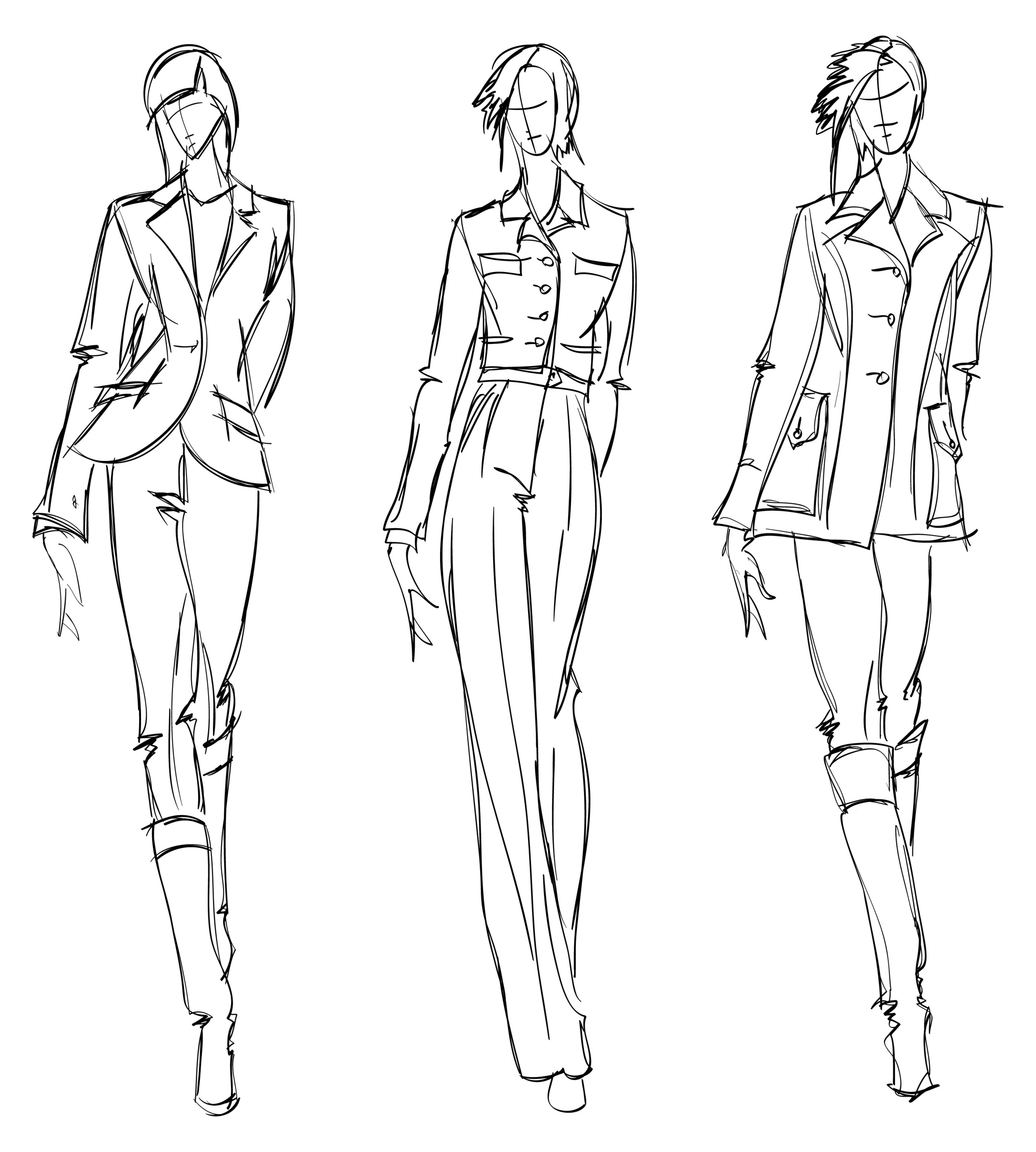 4Couture Corporate Wardrobe Sketches
