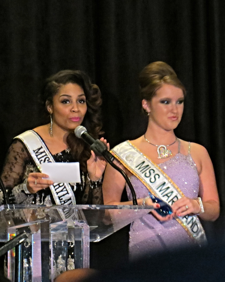Miss Maryland Intercontinental & Miss Maryland Present Awards for the night
