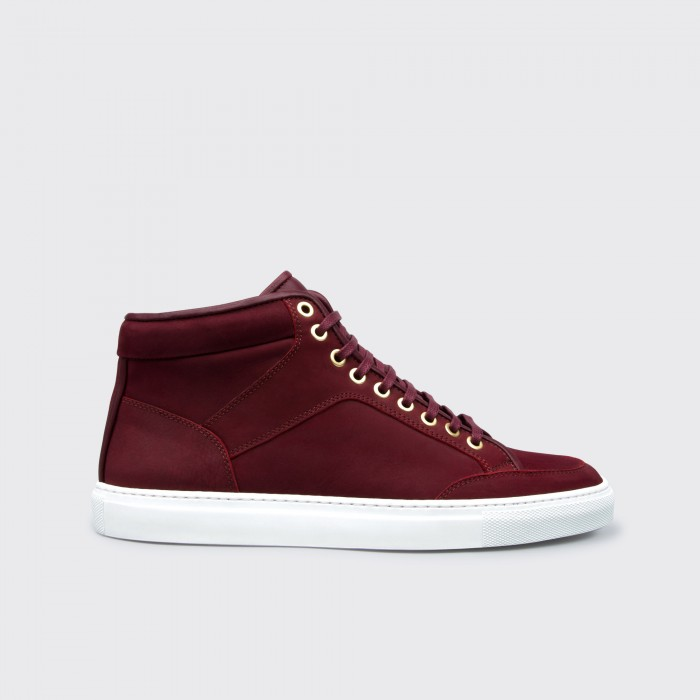 High Top Maroon Waxed
