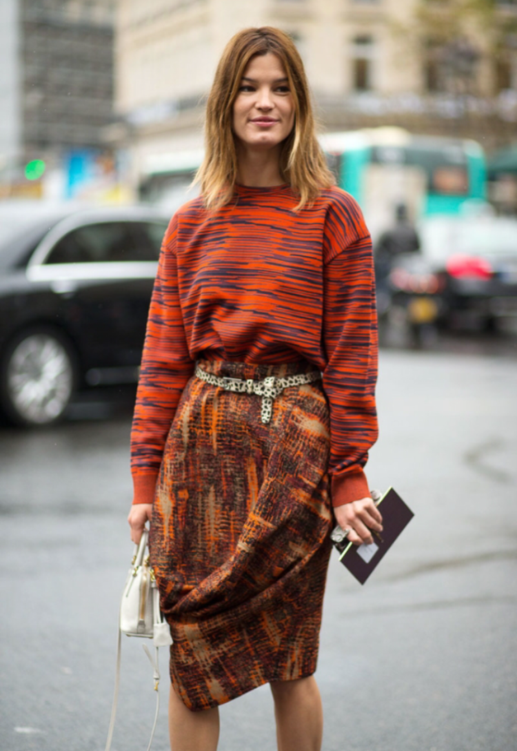 How perfect is this mix for Fall? (Image from The Satorialist)
