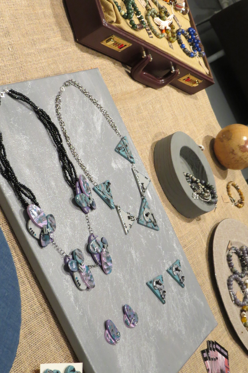 A Few of the handmade necklaces to be featured soon with DollCirca1930
