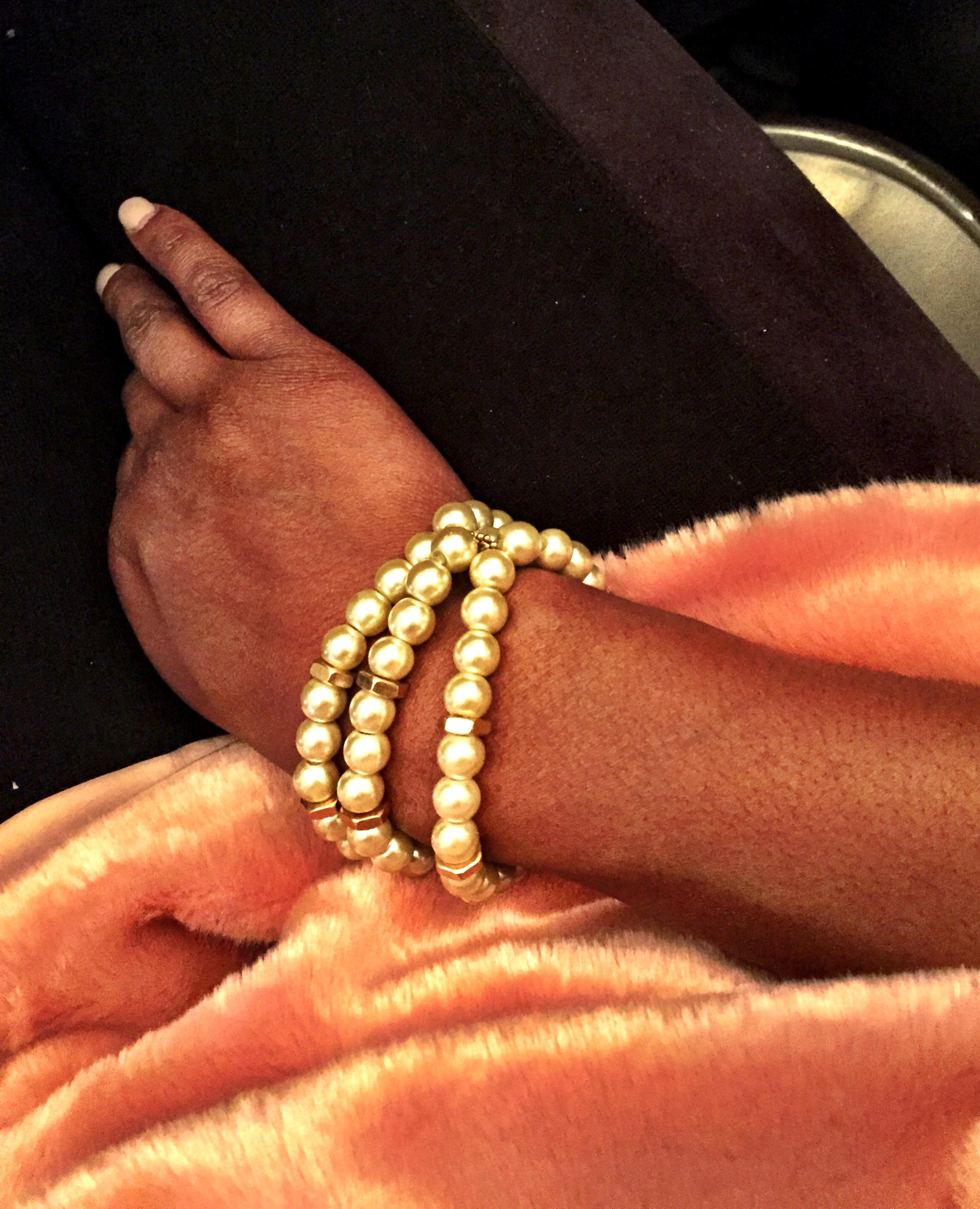Cuddly Fur H&M Sweater, BCBG suede tights,& DollCirca1930 on the wrist