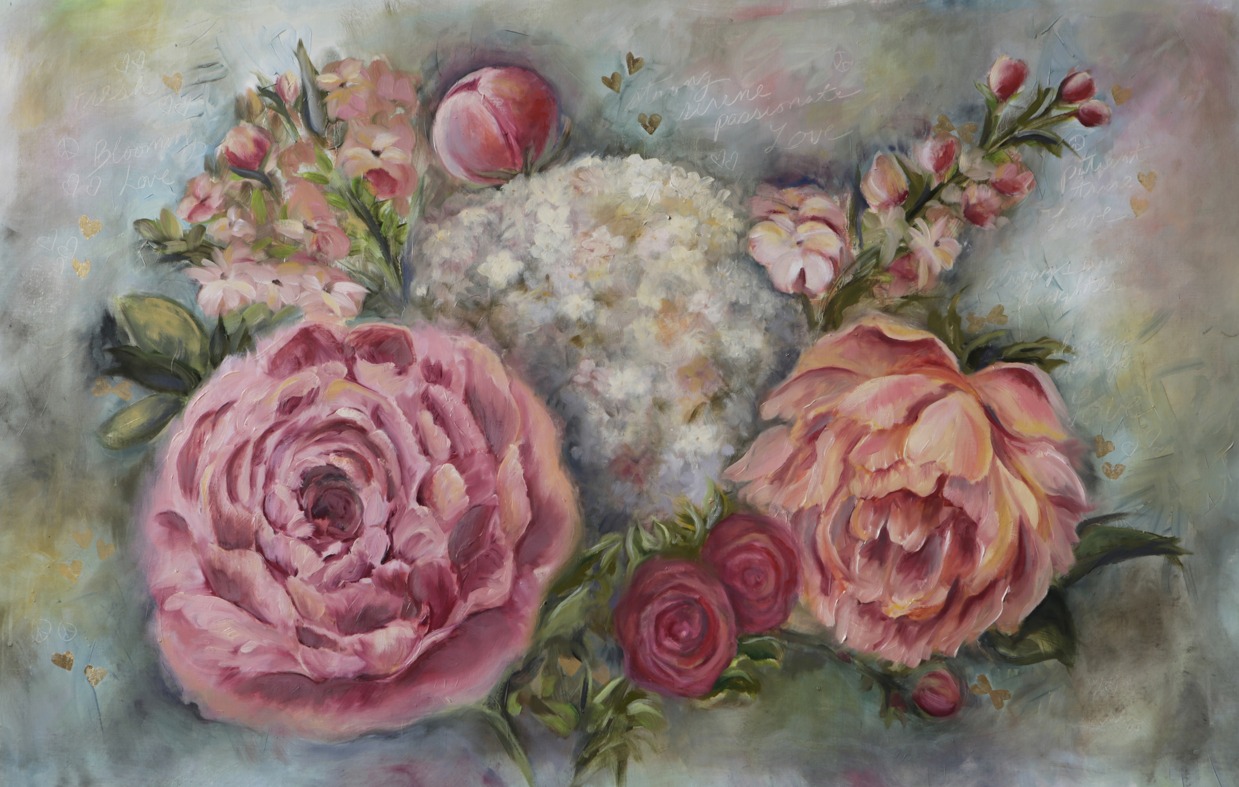 Commission Flowers Poetry Painting