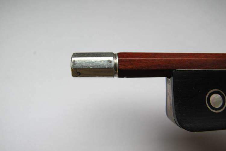L Morizot Violin Bow, Frog and Button Copy